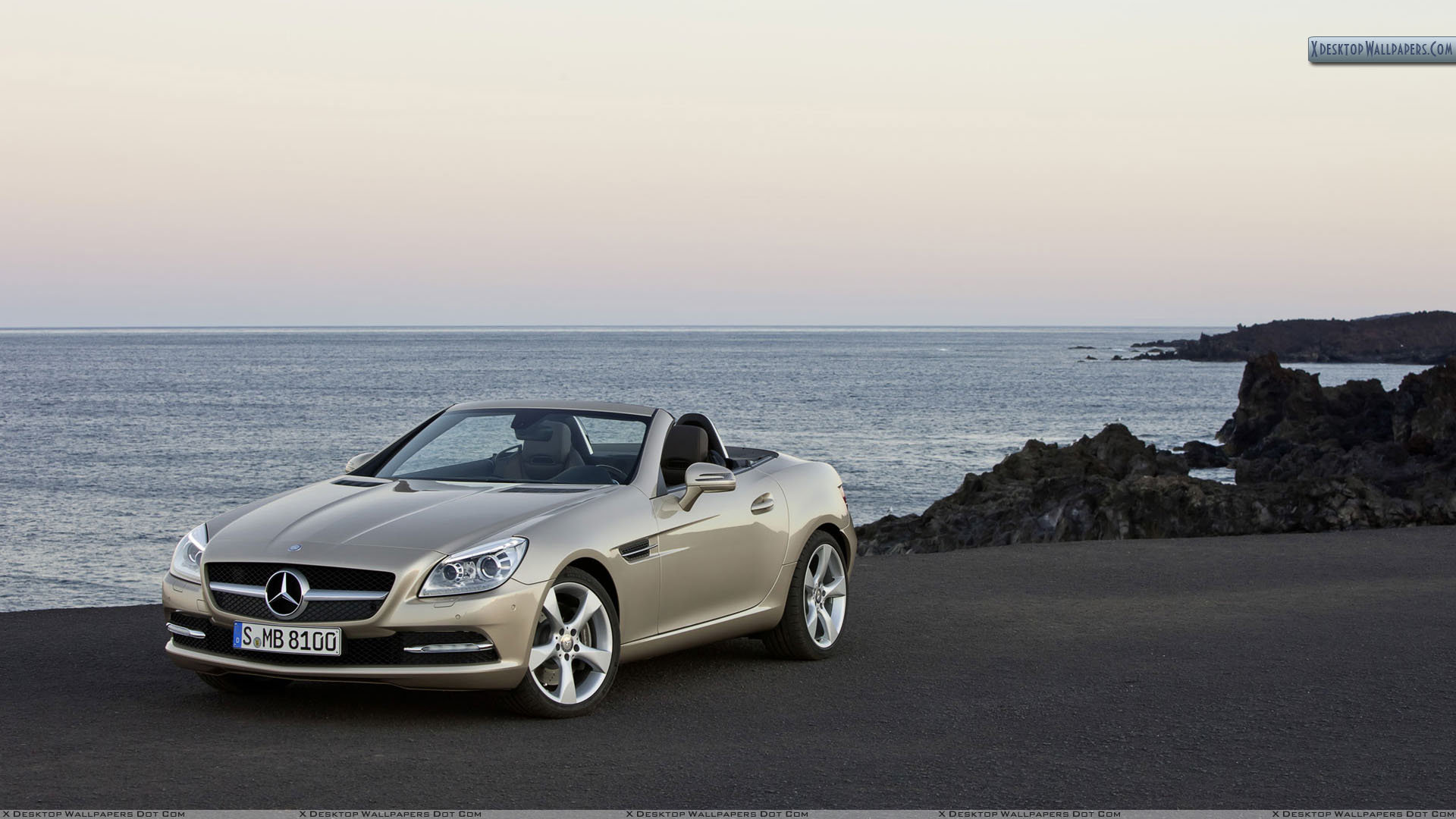 Golden mercedes benz slk 350 parked near beach wallpaper for Mercedes benz virginia beach