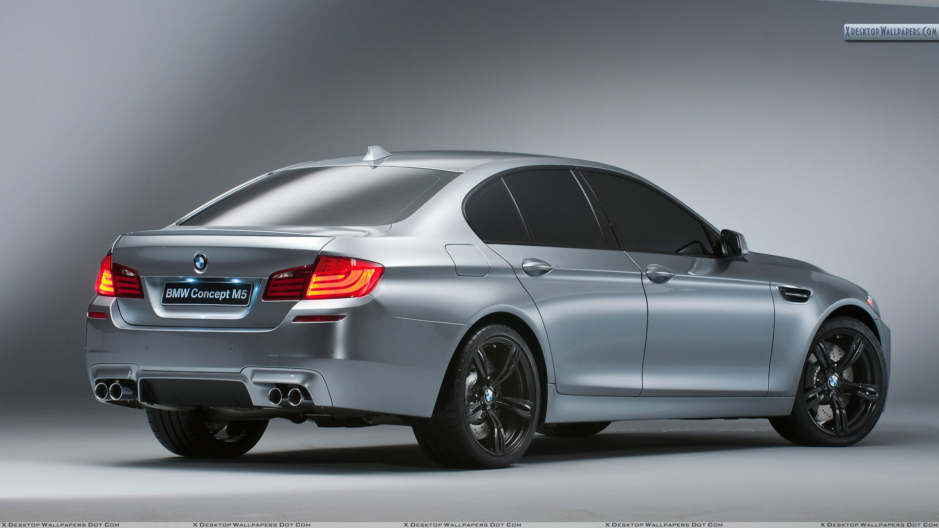 Side Back Pose In Grey Color 2012 Bmw M5 Concept Wallpaper