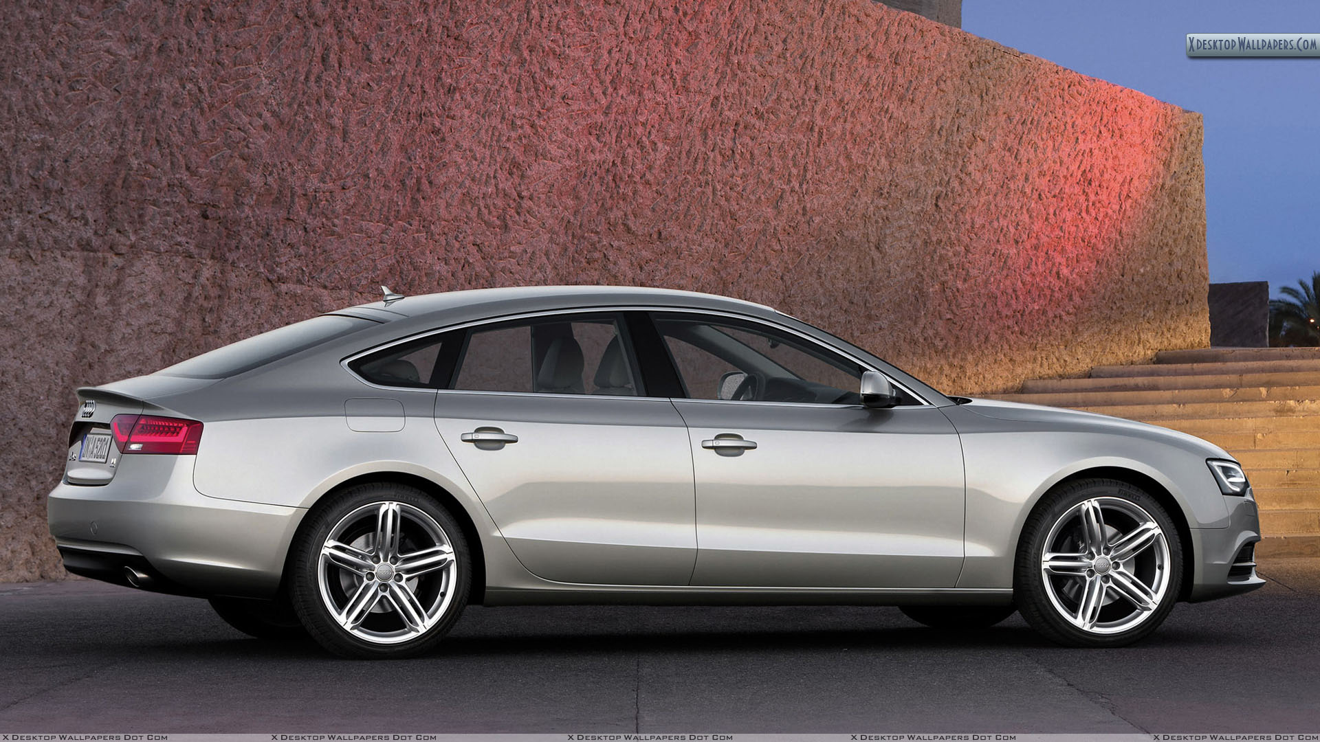 side pose of 2012 audi a5 sportback outside building wallpaper. Black Bedroom Furniture Sets. Home Design Ideas