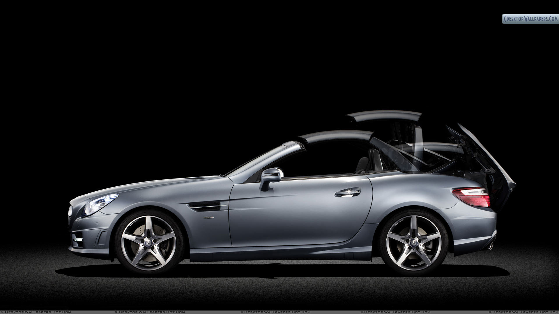 Silver mercedes benz slk 350 side view wallpaper for Mercedes benz silver