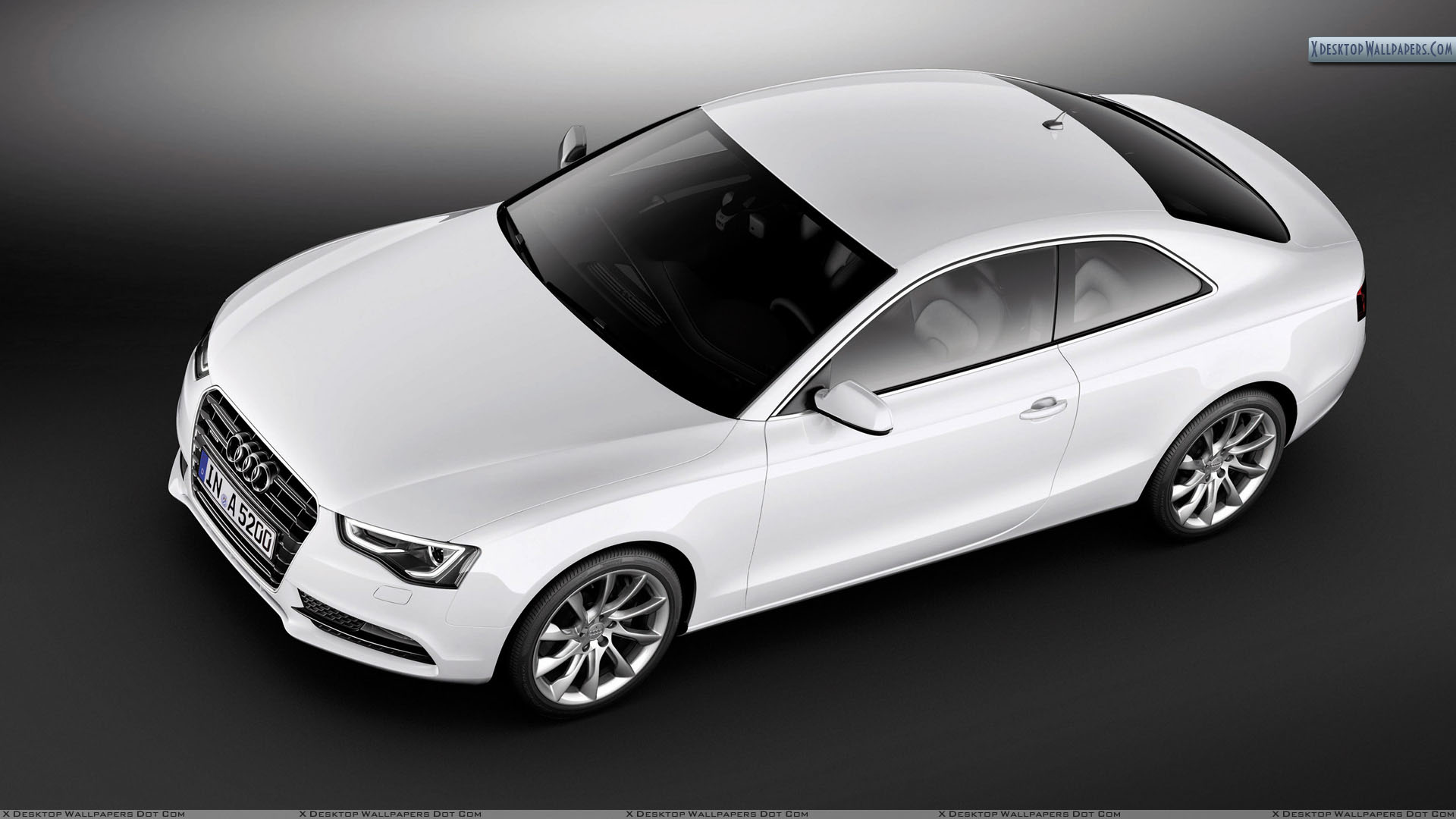 top view of 2012 audi a5 coupe wallpaper