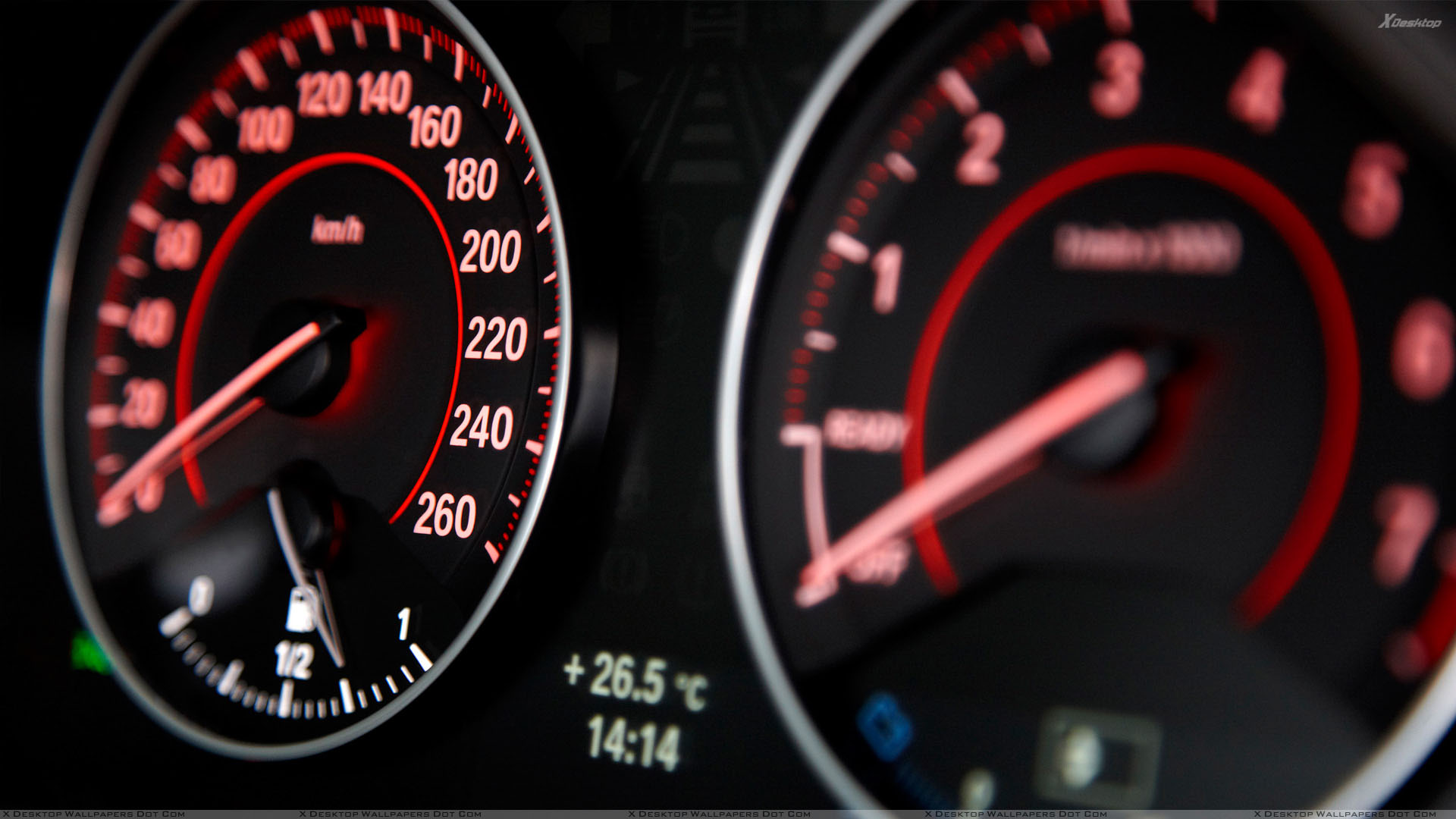 2012 Bmw 1 Series Speedometer Wallpaper