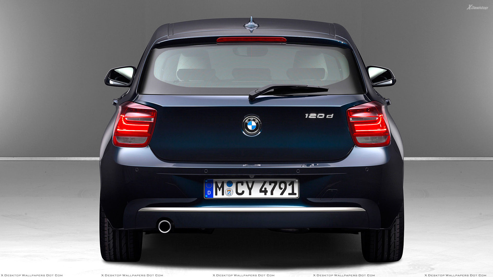 Back Pose Of 2012 Bmw 1 Series 120d In Blue Wallpaper