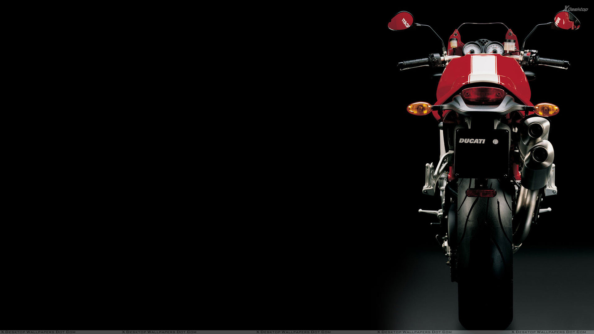 You Are Viewing Wallpaper Titled Back Pose Of Ducati Monster