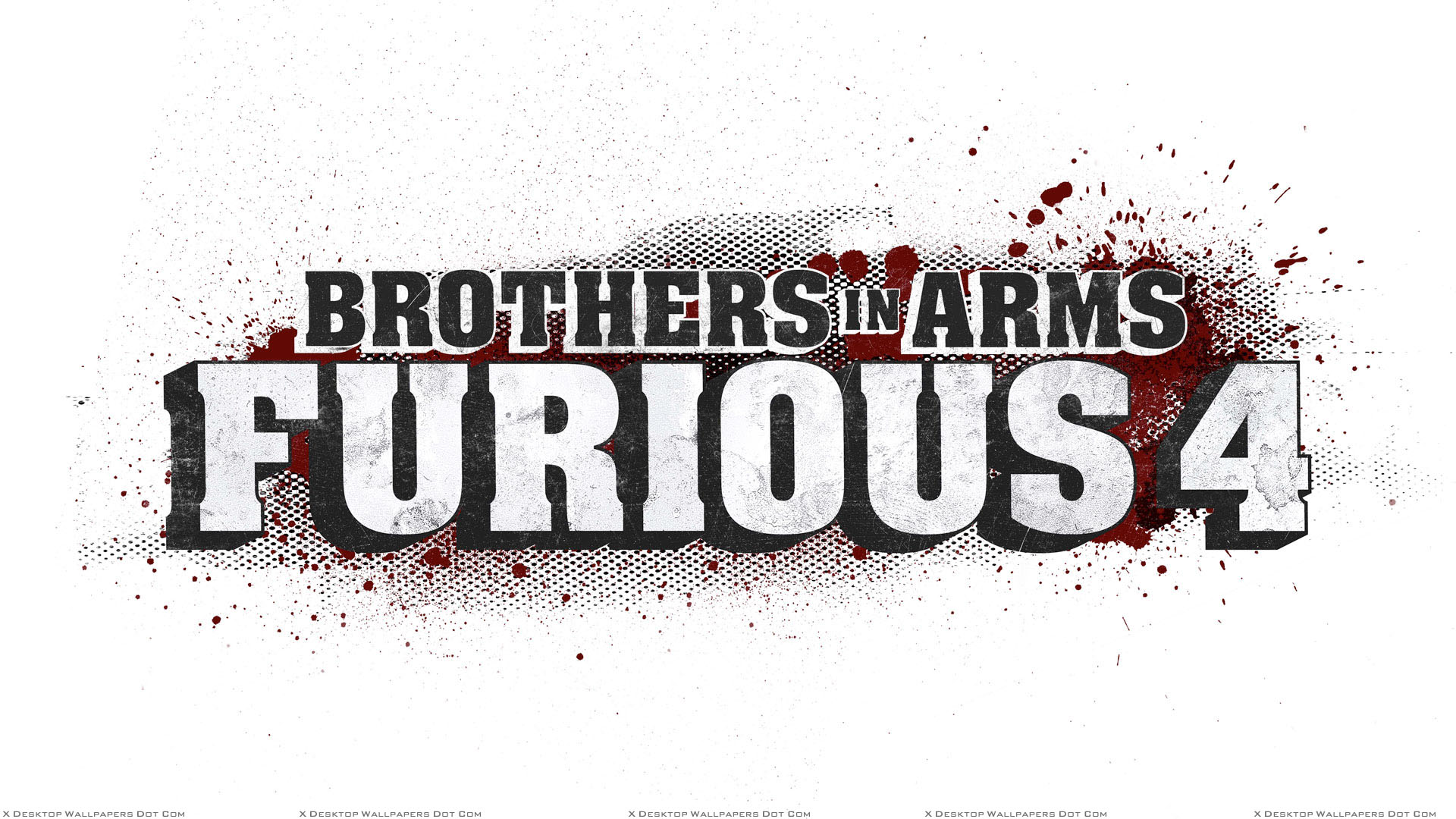 brothers in arms – furious 4 game poster n white background wallpaper