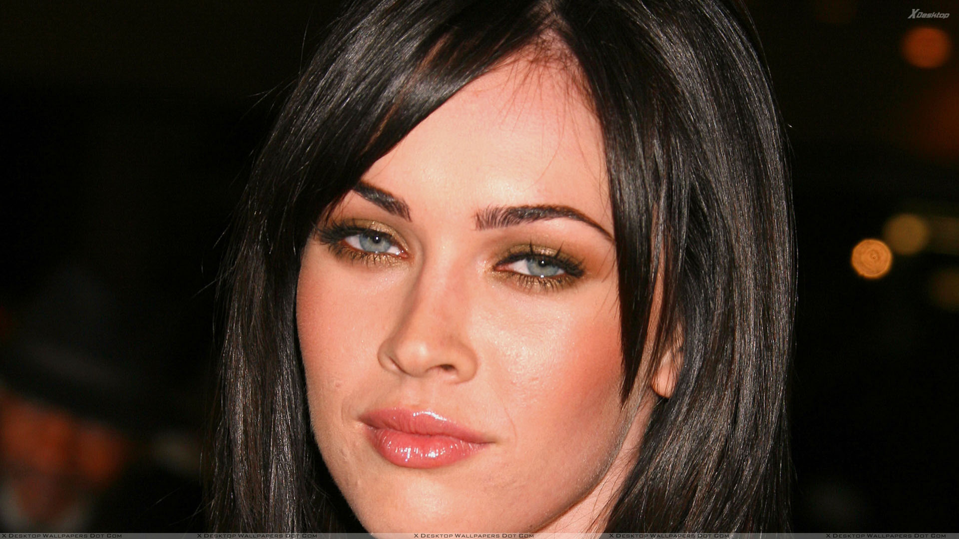 megan fox wet lips and cute eyes face closeup wallpaper