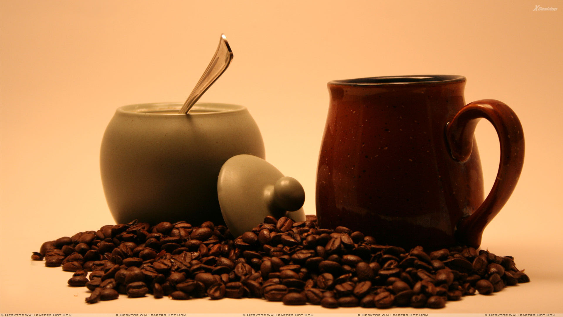 Morning Coffee Cattles And Beans Wallpaper