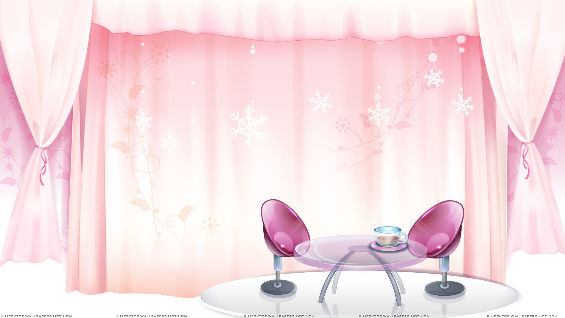 Pink Curtains And Pink Chairs Interior Wallpaper for Pink Curtains Background  5lp5wja