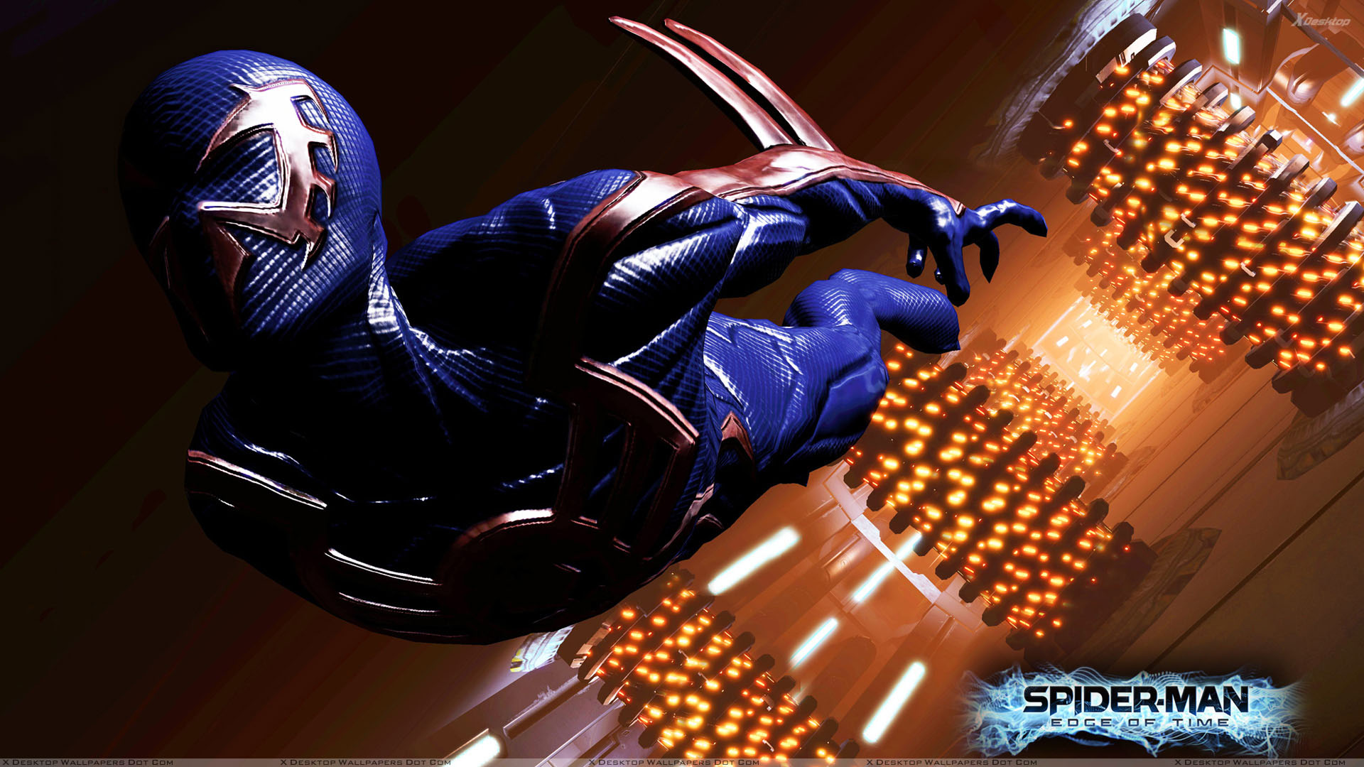 Spider Man Edge Of Time Acrobatic Agility Wallpaper