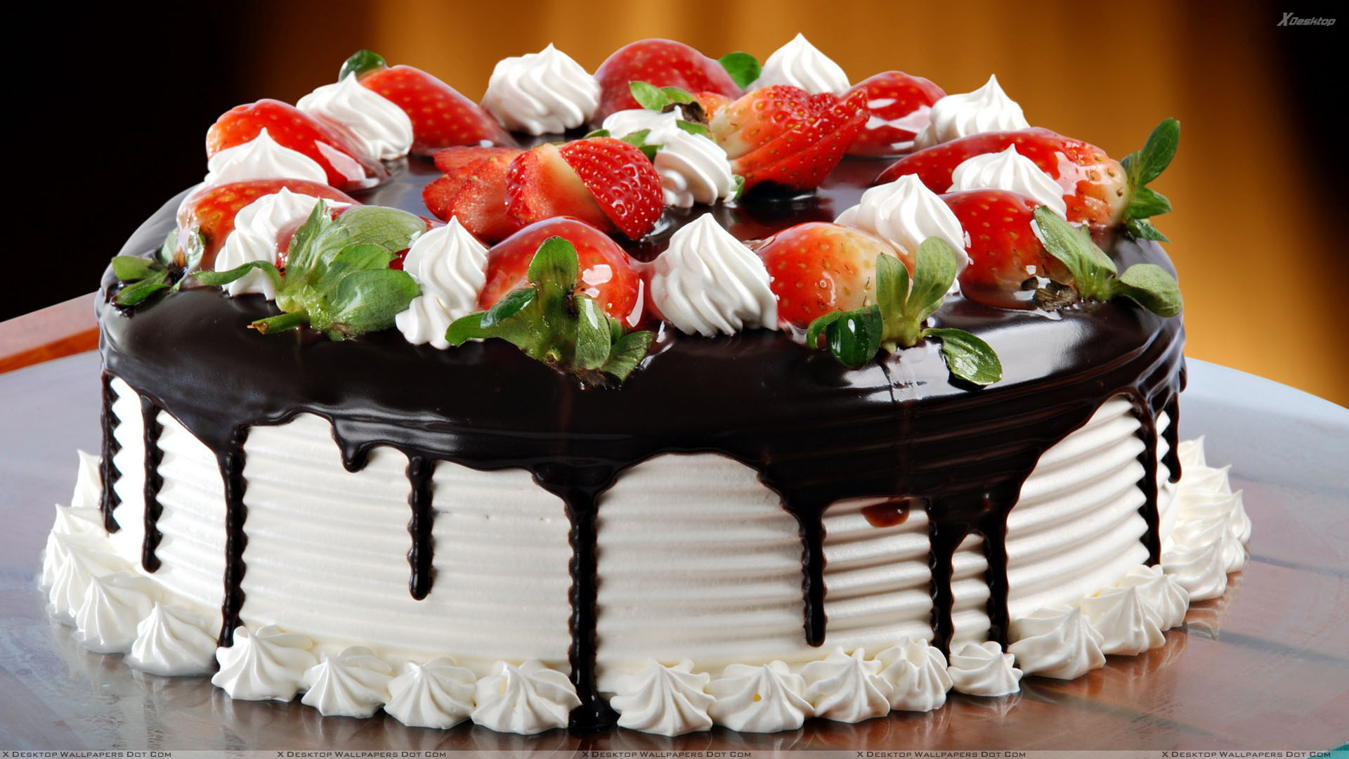 Strawberries And Chocolate Cake For Birthday Download 16