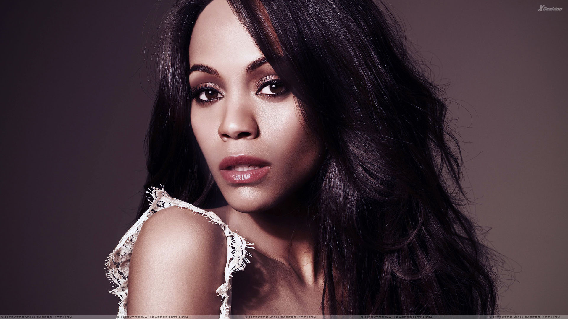 zoe saldana Zoe saldana half nude posing she is posing in hot white underwear and showing us her biceps , she wants to show to everybody how strong she is.