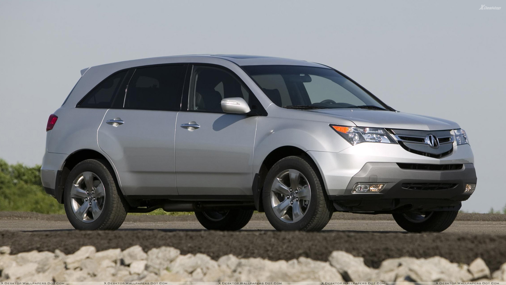 2008 acura mdx 005 in silver front side pose wallpaper