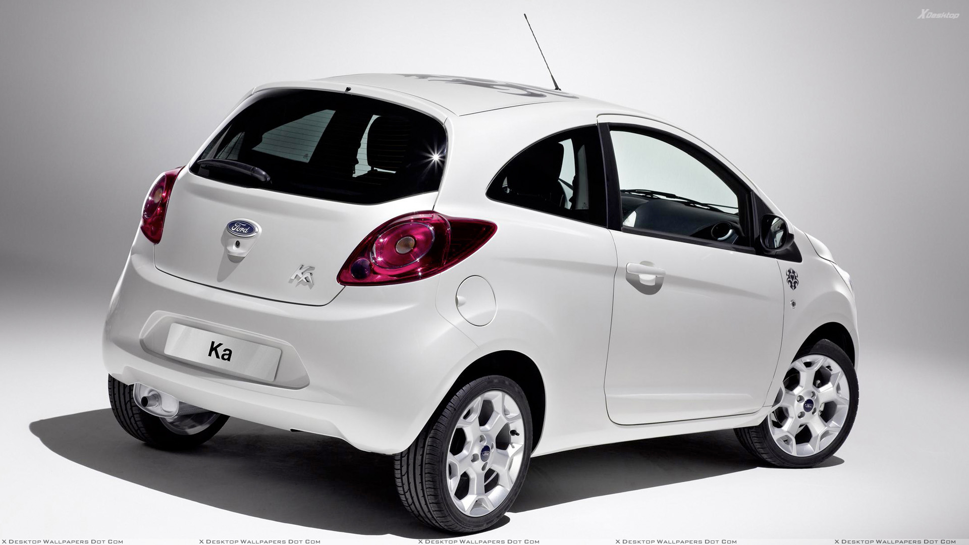2008 ford ka tattoo side back pose in white n white background wallpaper. Black Bedroom Furniture Sets. Home Design Ideas