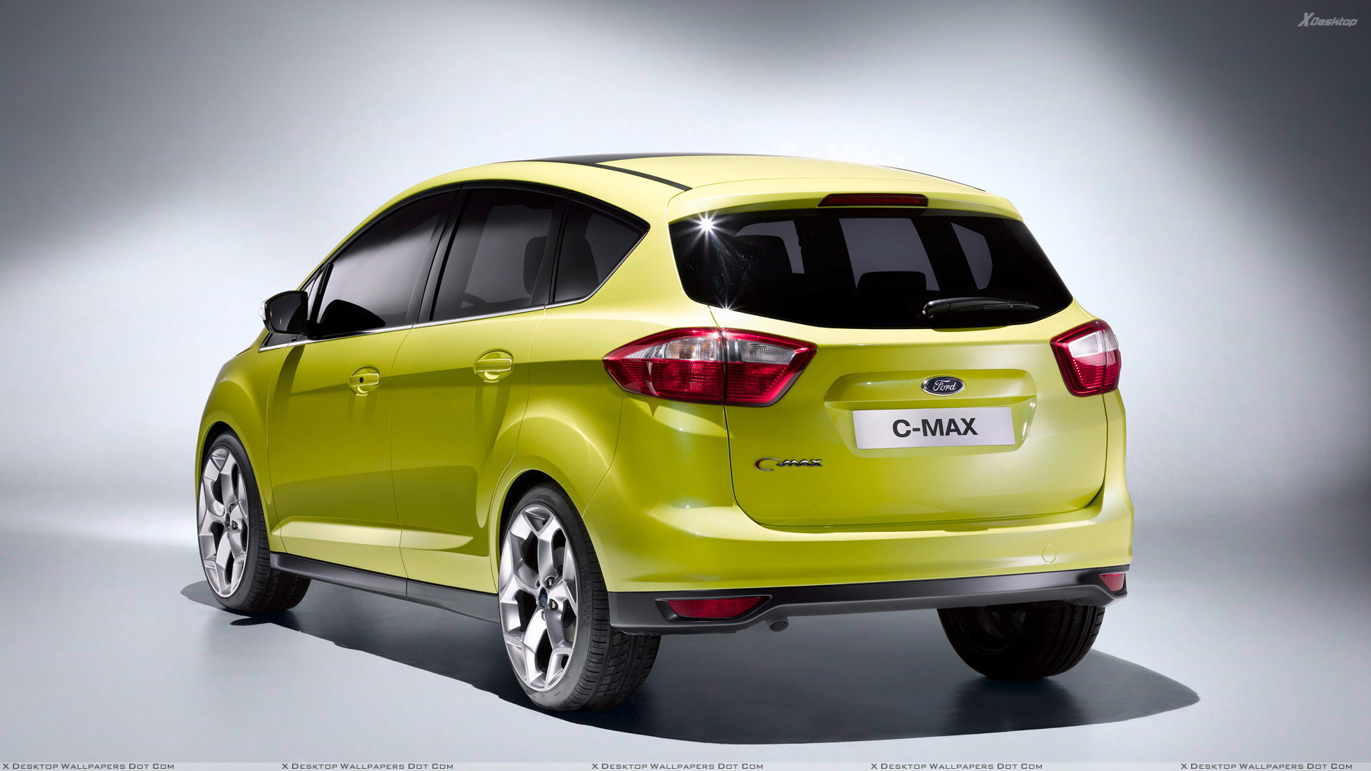 2010 ford c max in green back side pose wallpaper. Black Bedroom Furniture Sets. Home Design Ideas