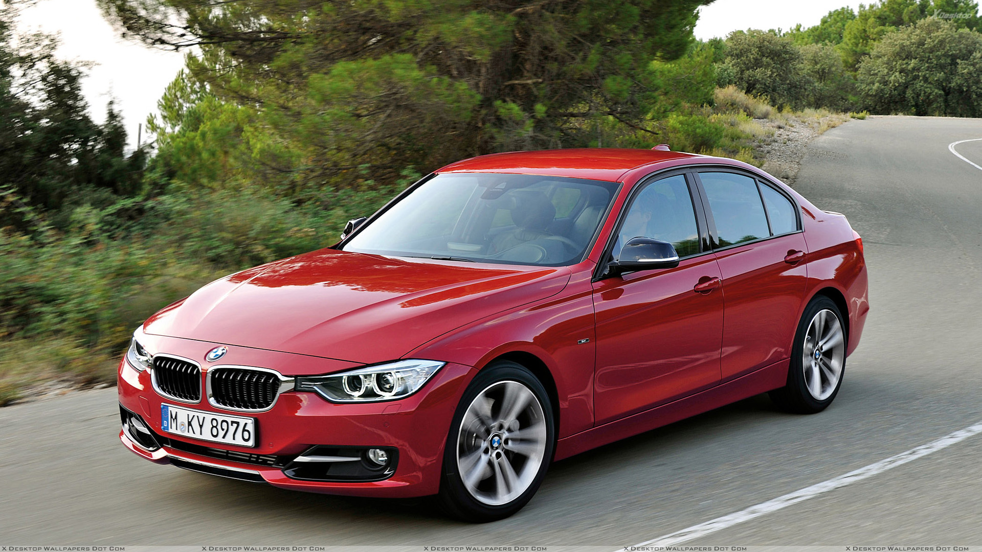 2012 bmw 3 series sedan f30 front side pose in red wallpaper. Black Bedroom Furniture Sets. Home Design Ideas