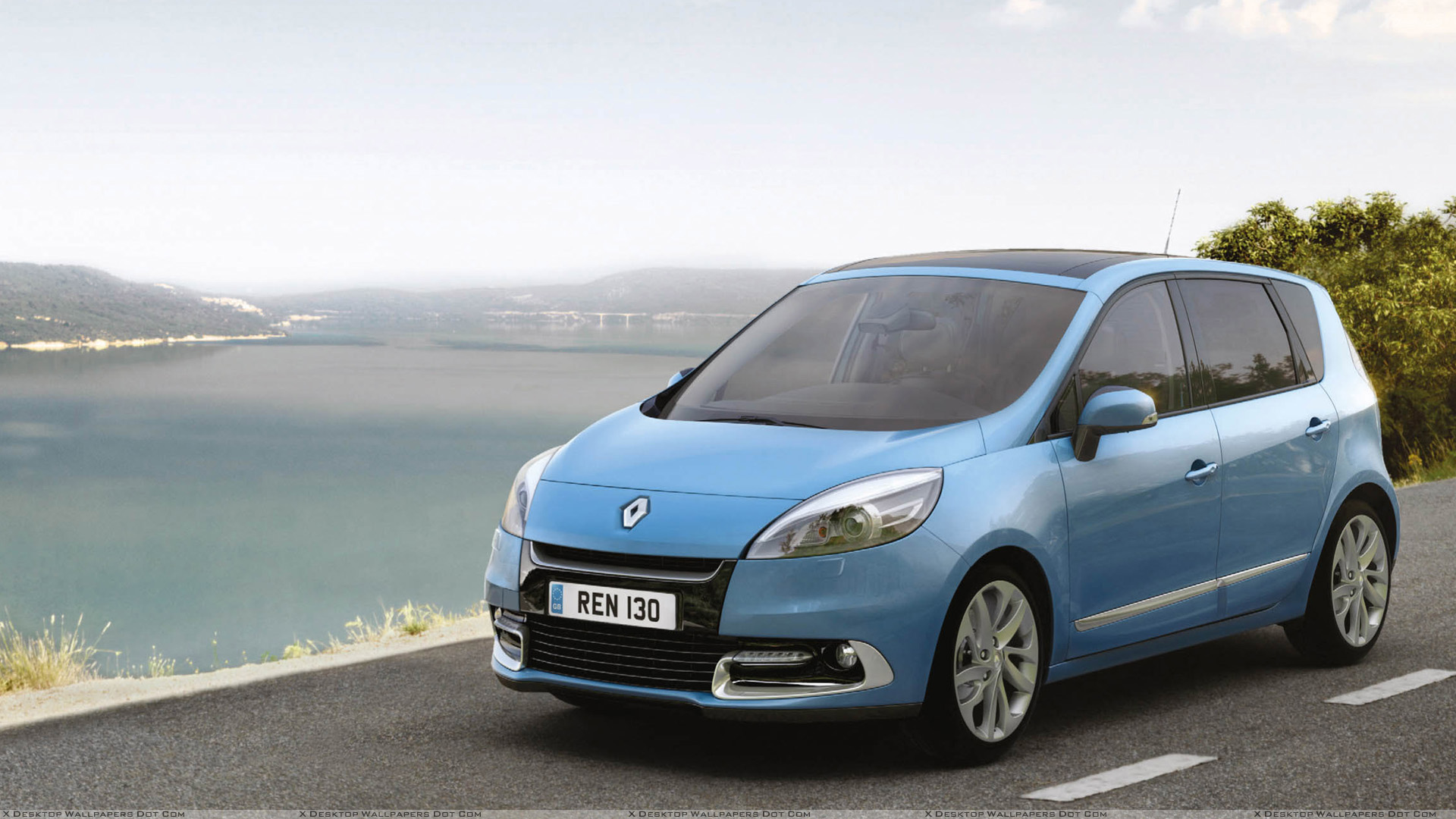 2012 renault scenic uk front side pose in blue wallpaper. Black Bedroom Furniture Sets. Home Design Ideas