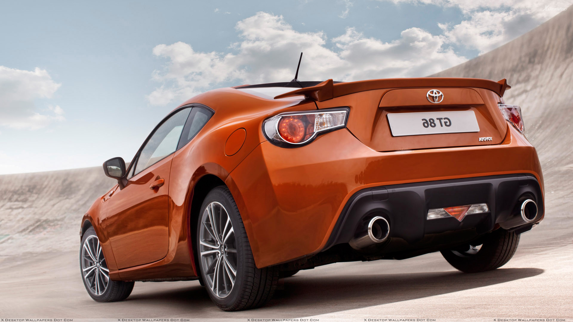 2012 toyota gt 86 side back pose in orange wallpaper. Black Bedroom Furniture Sets. Home Design Ideas