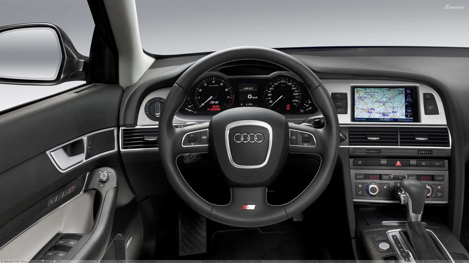 580ps Audi Rs 6 Car Dashboard Wallpaper