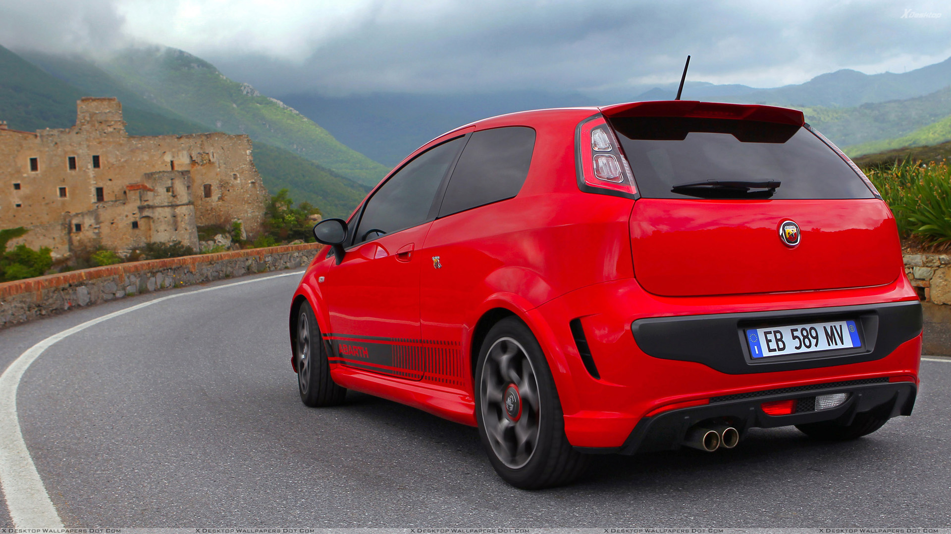 red abarth punto evo wallpaper hd desktop view wallpapers. Black Bedroom Furniture Sets. Home Design Ideas