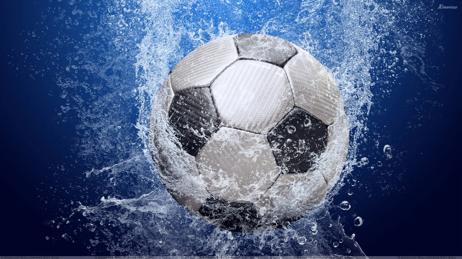 Football In Water And Blue Baclground Wallpaper