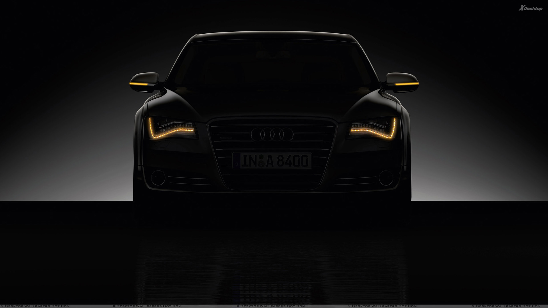 Front Pose Of 2011 Audi A8 In Night Wallpaper
