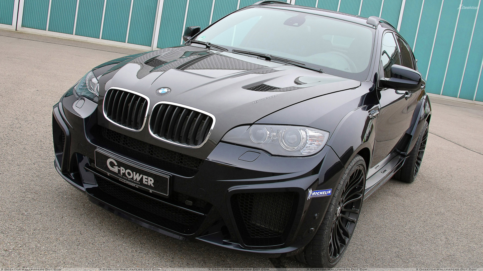 G Power Bmw X6 M Typhoon Wide Body Front Pose In Black