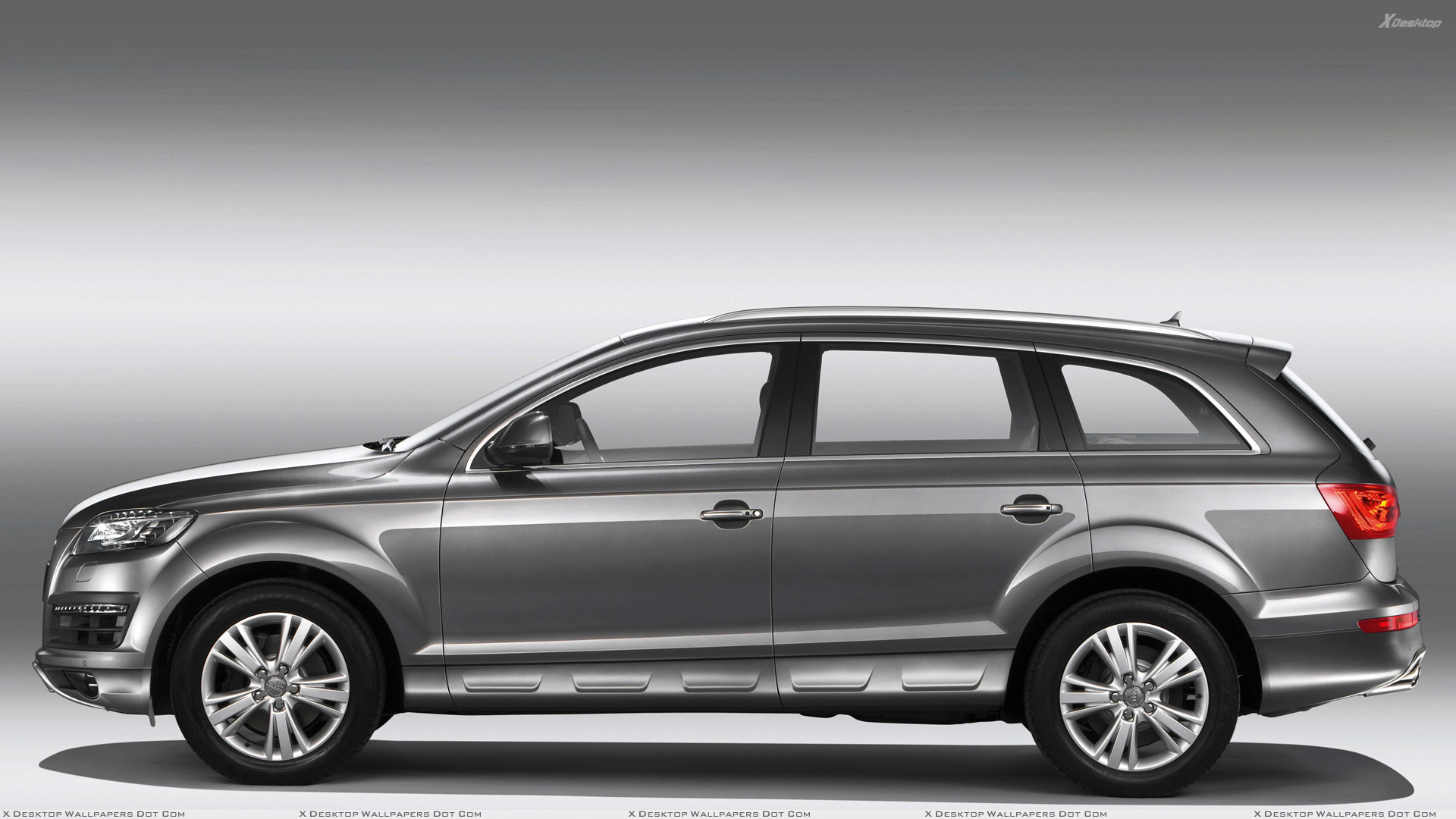 side pose of 2010 audi q7 30 tdi in grey wallpaper. Black Bedroom Furniture Sets. Home Design Ideas