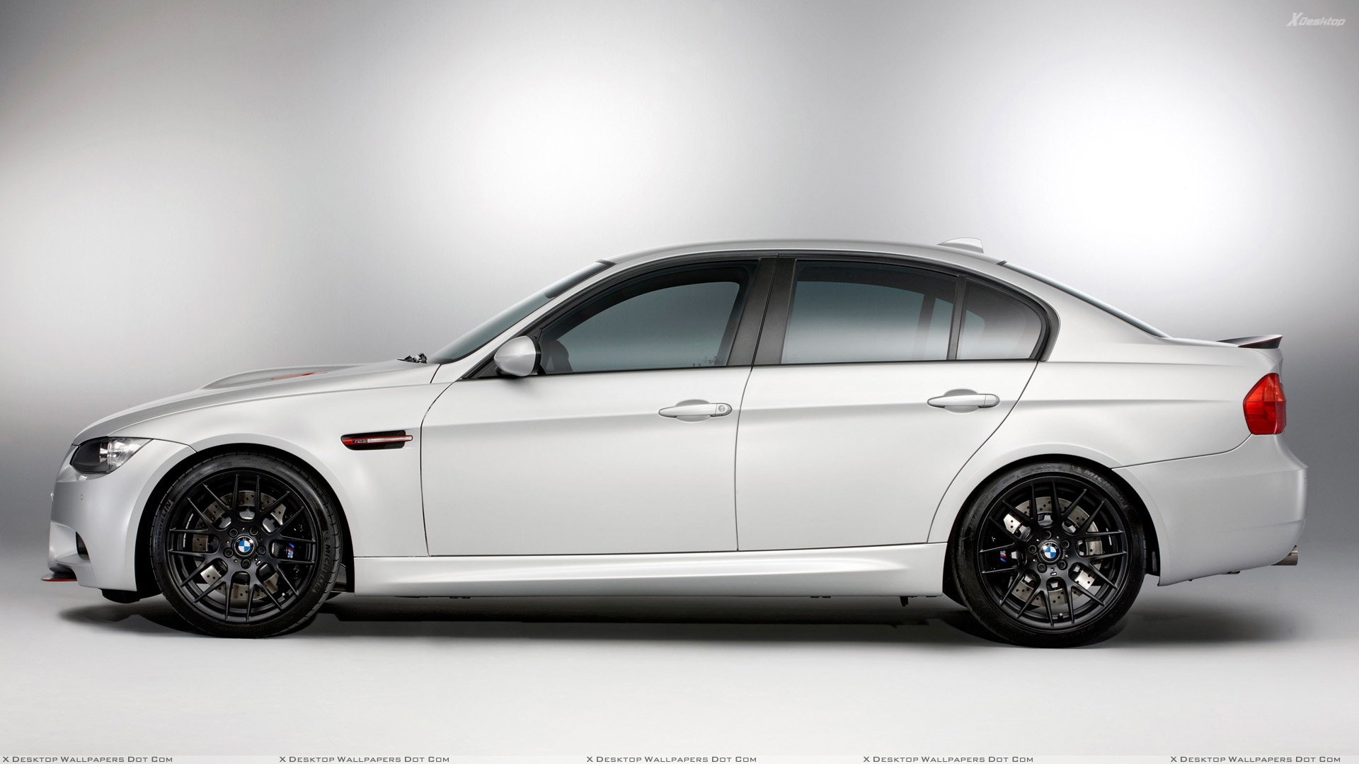 Side Pose Of 2011 Bmw M3 E90 Crt In White Wallpaper