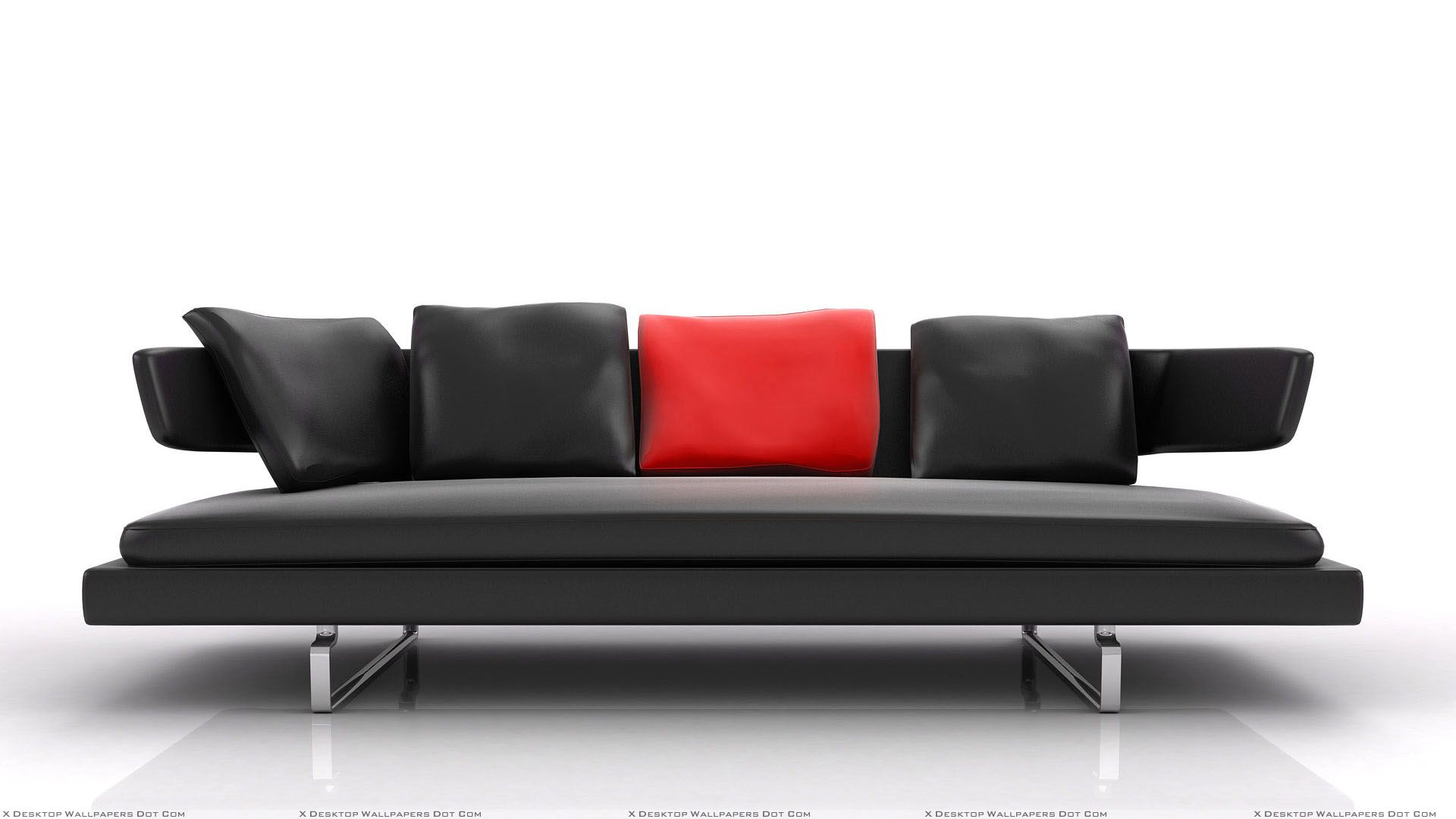 black sofa and white background wallpaper. Black Bedroom Furniture Sets. Home Design Ideas