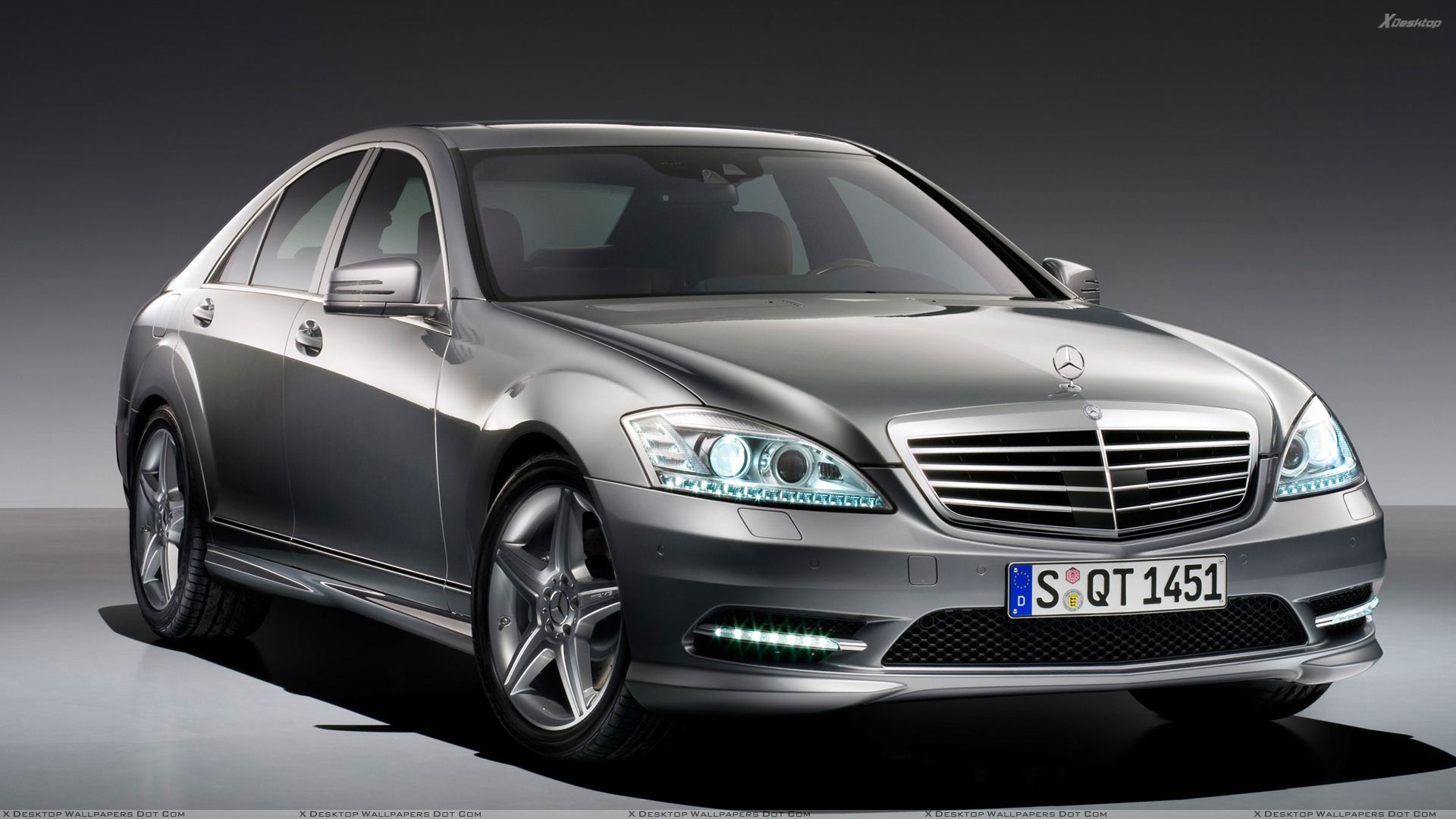 2009 mercedes benz s500 in grey front pose wallpaper for S 500 mercedes benz