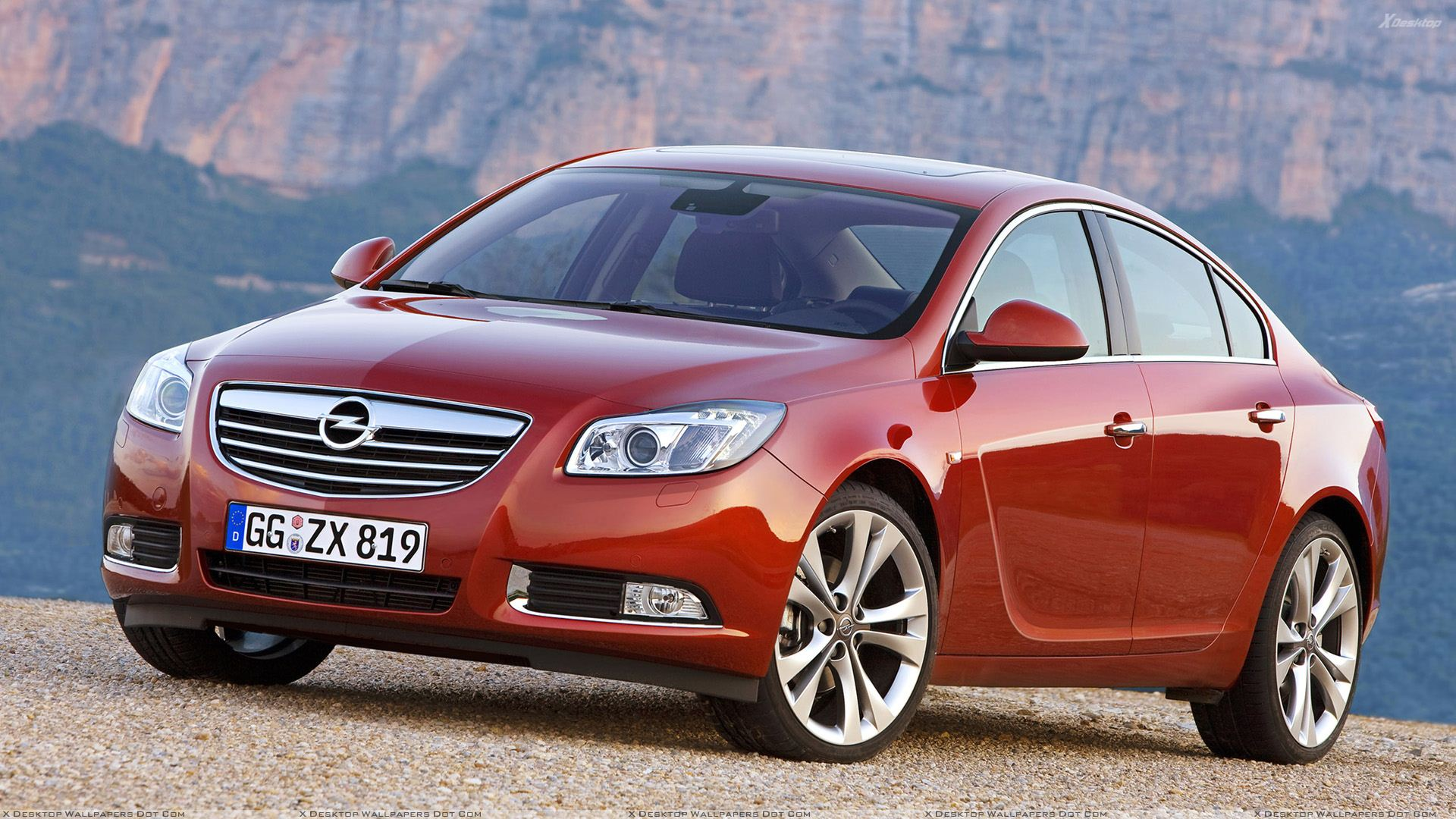 2009 opel insignia in red front side pose wallpaper. Black Bedroom Furniture Sets. Home Design Ideas