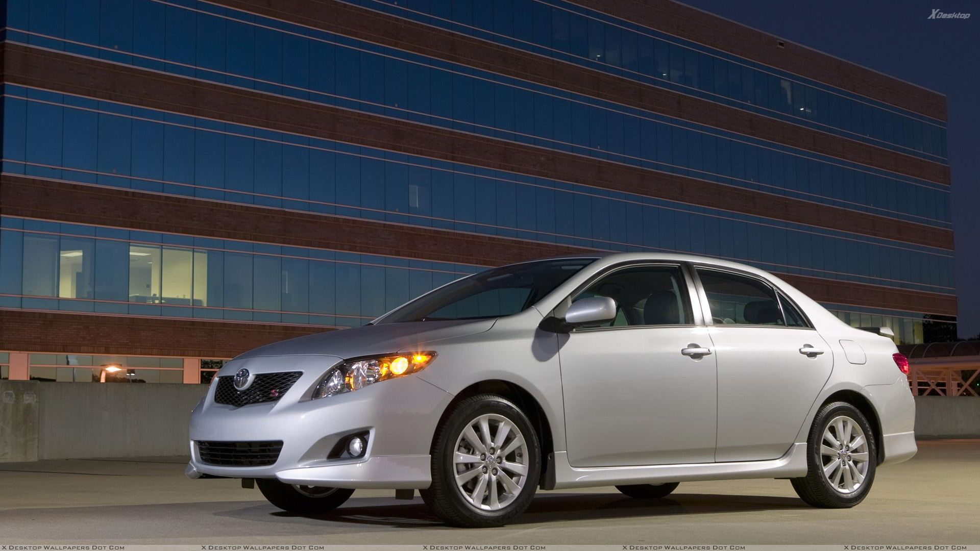2009 Toyota Corolla S In Side Pose Front HeadLights On ...