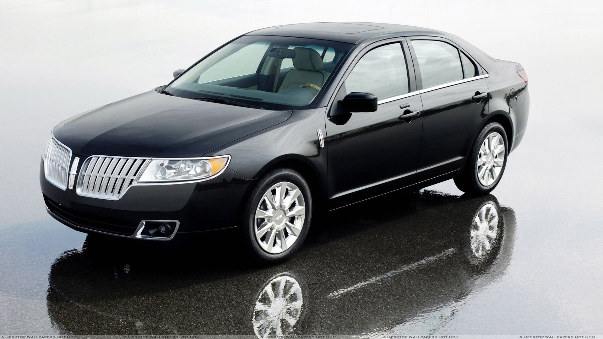 2010 Lincoln Mkz Side Front Pose In Black Wallpaper