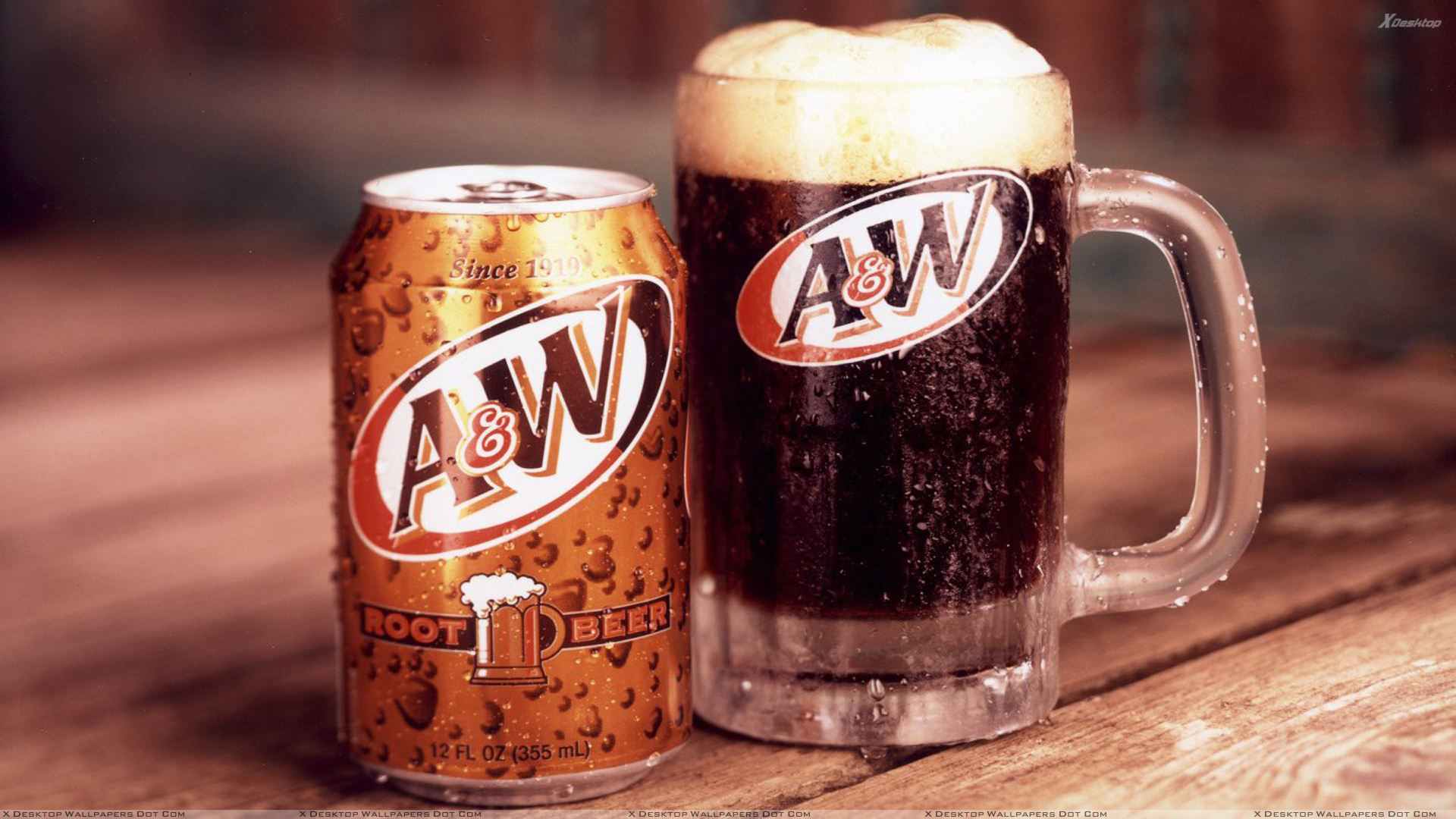 A W Root Beer Glass Mugs
