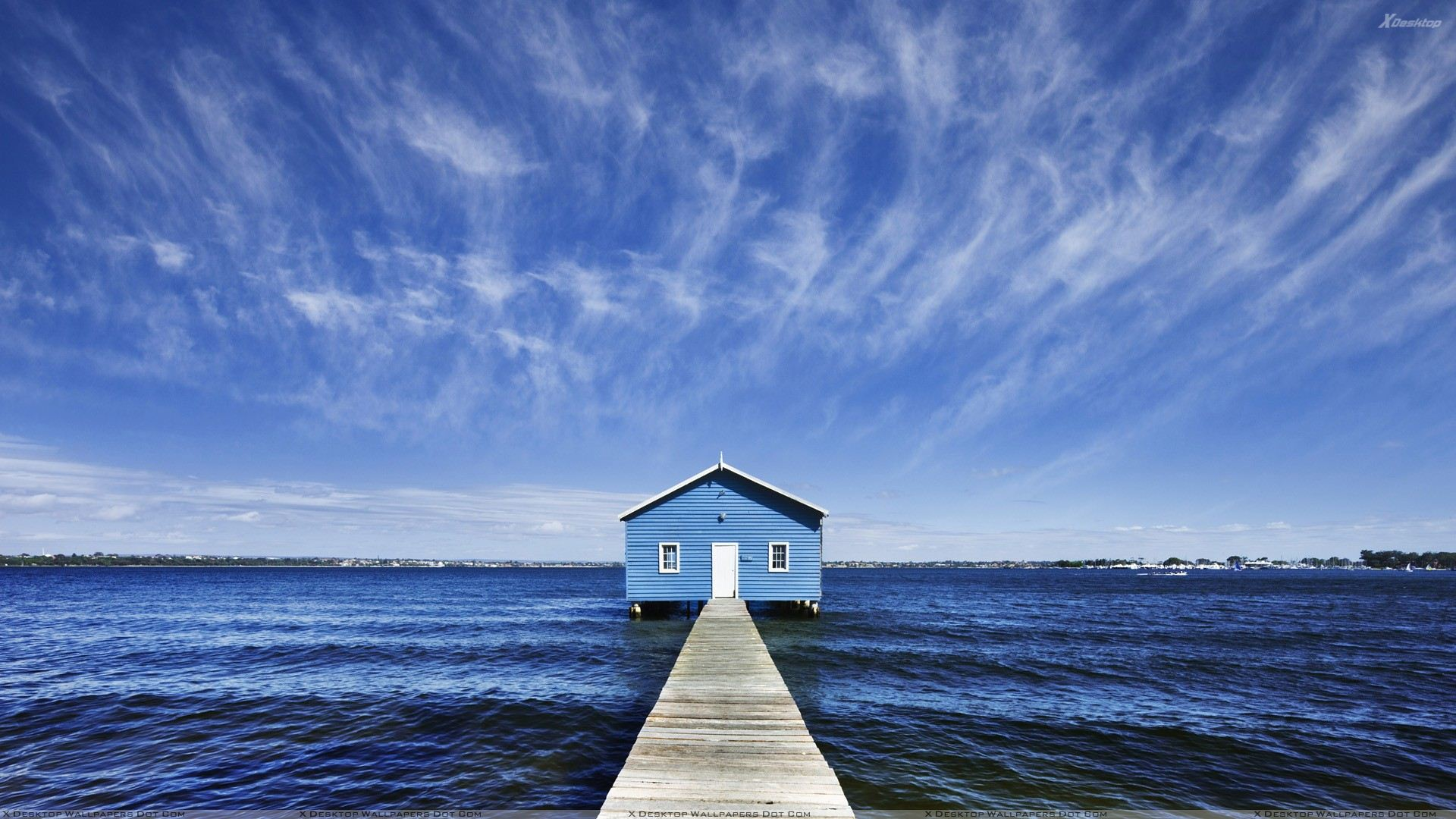 A House In Middle Of A Sea Wallpaper