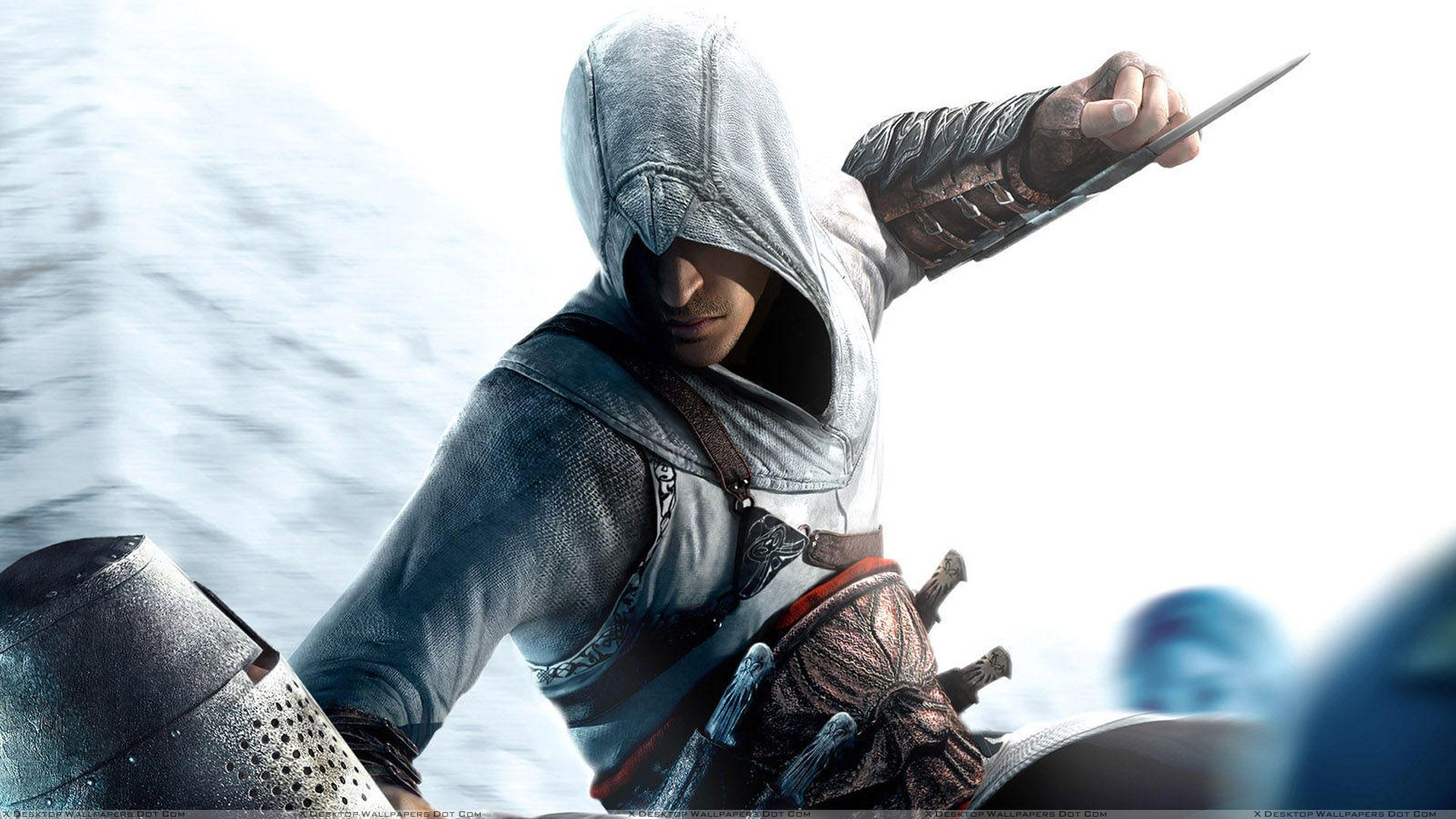 assassins creed attacking with blade wallpaper