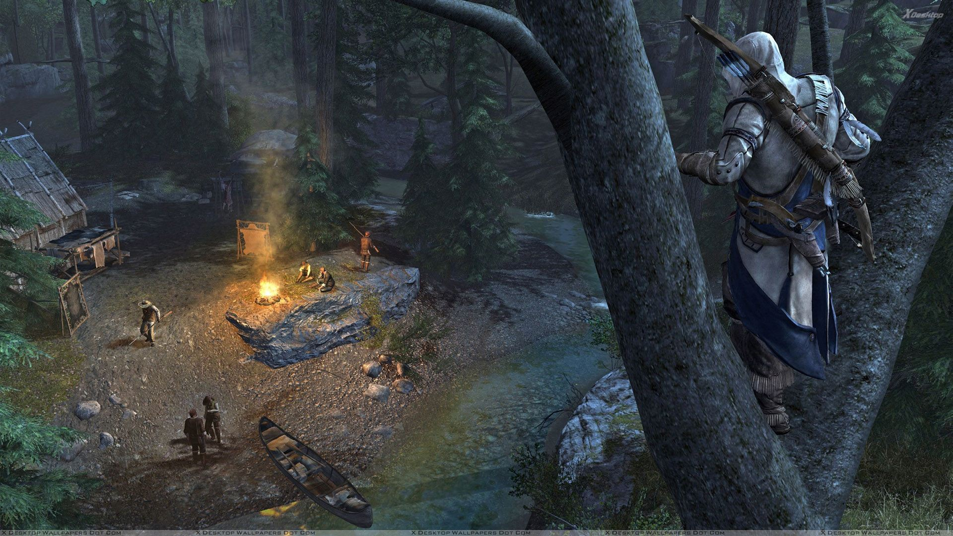Assassins creed 3 standing on a tree wallpaper you are viewing wallpaper titled assassins creed 3 voltagebd Gallery