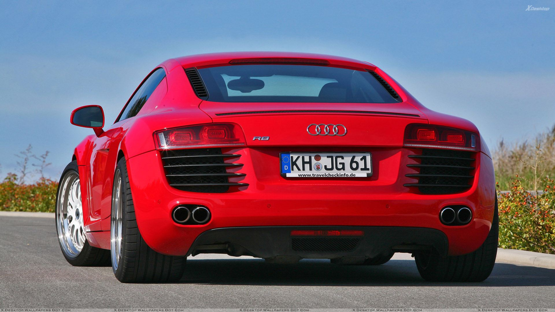 You Are Viewing Wallpaper Titled Back Pose Of Red Mfk Autosport Audi R8