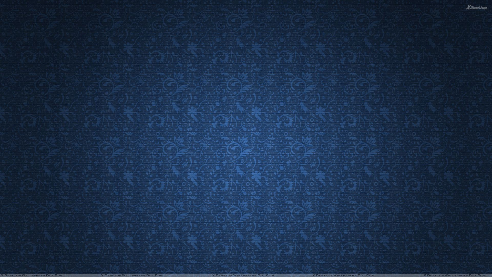 blue abstract background with flowers on it wallpaper