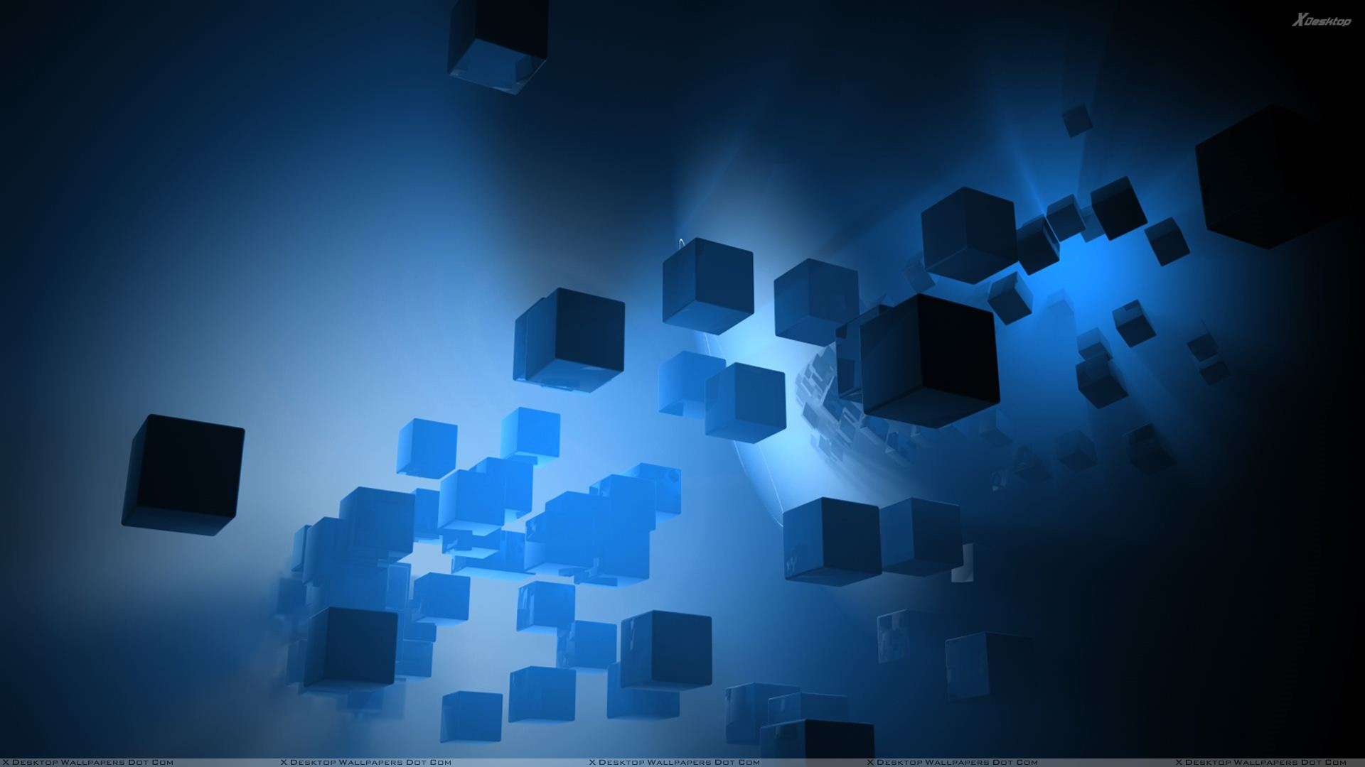 You Are Viewing Wallpaper Titled Blue Little Cubes Abstract
