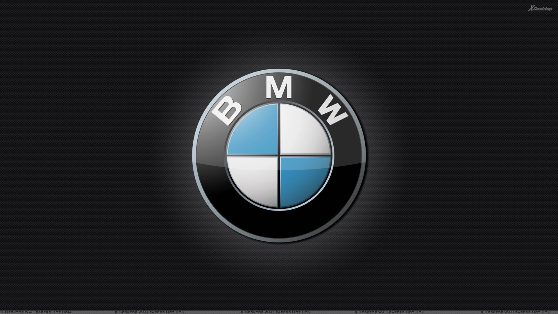 Bmw Logo On Black Background Wallpaper