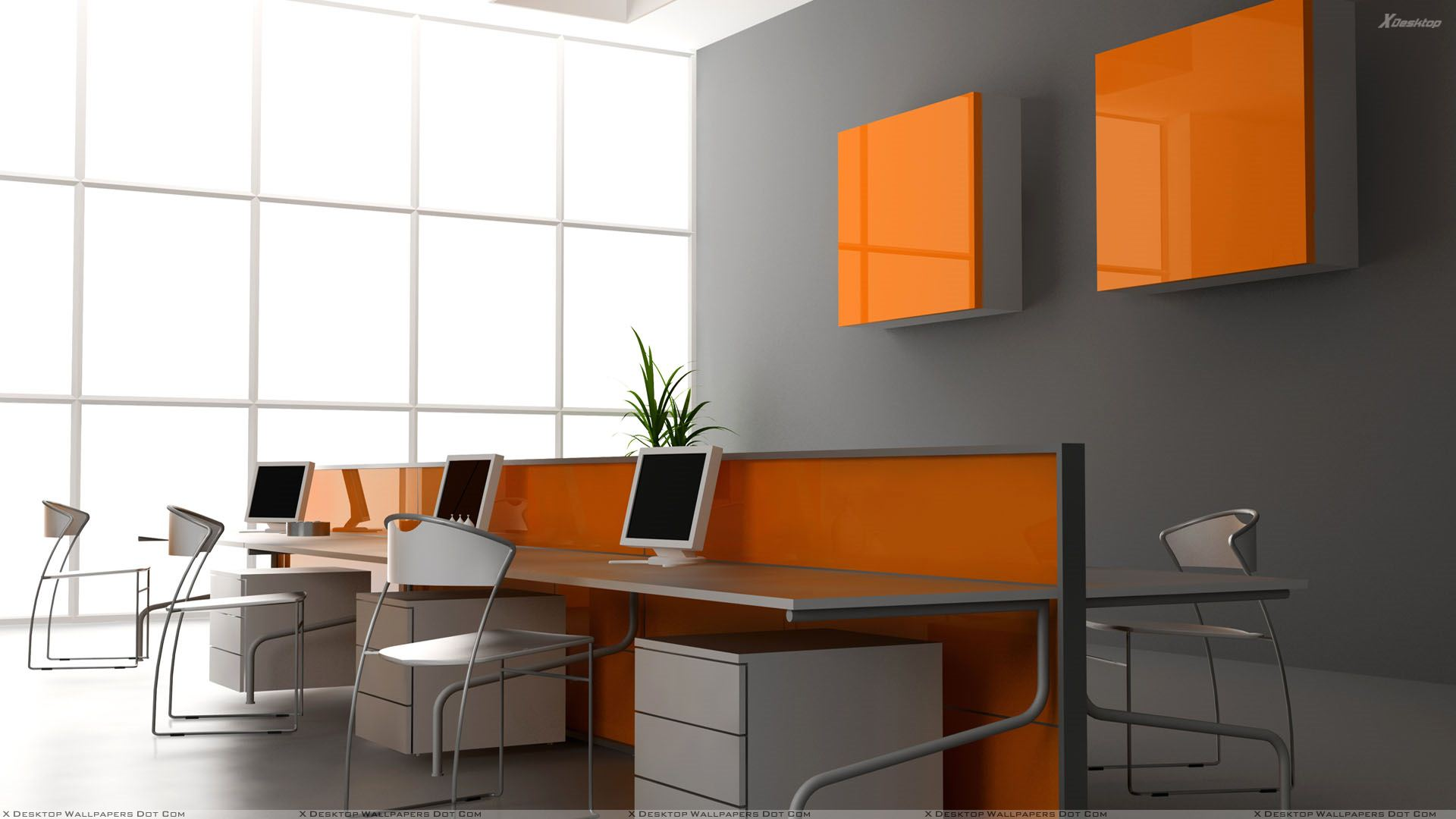 Grey And Orange >> Grey And Orange Background In Office Wallpaper