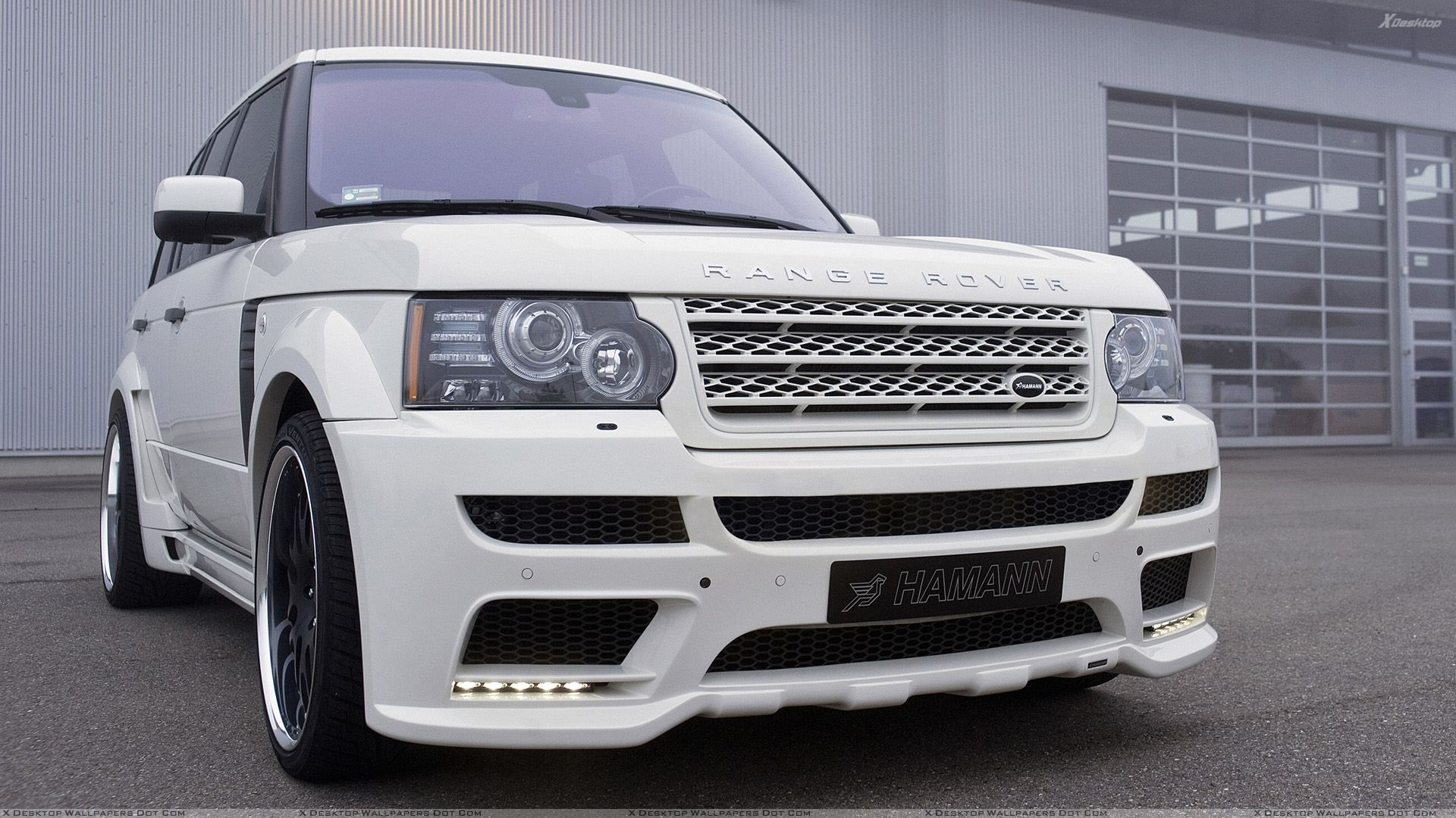hamann range rover 5.0i v8 supercharged in white front pose wallpaper