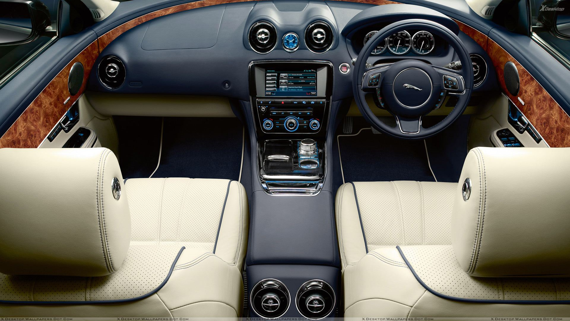interior of jaguar xj wallpaper