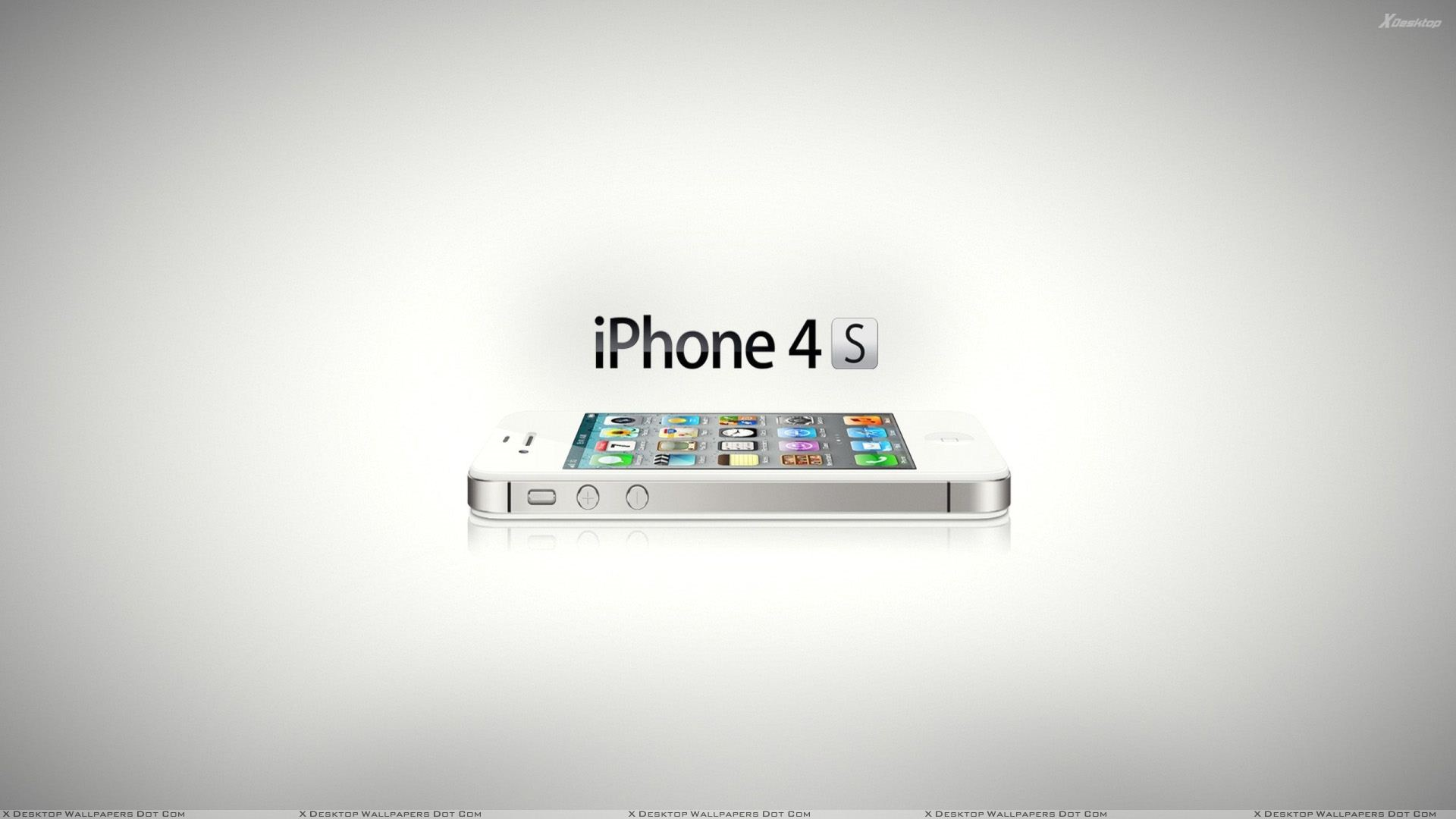 iphone 4s and white background wallpaper