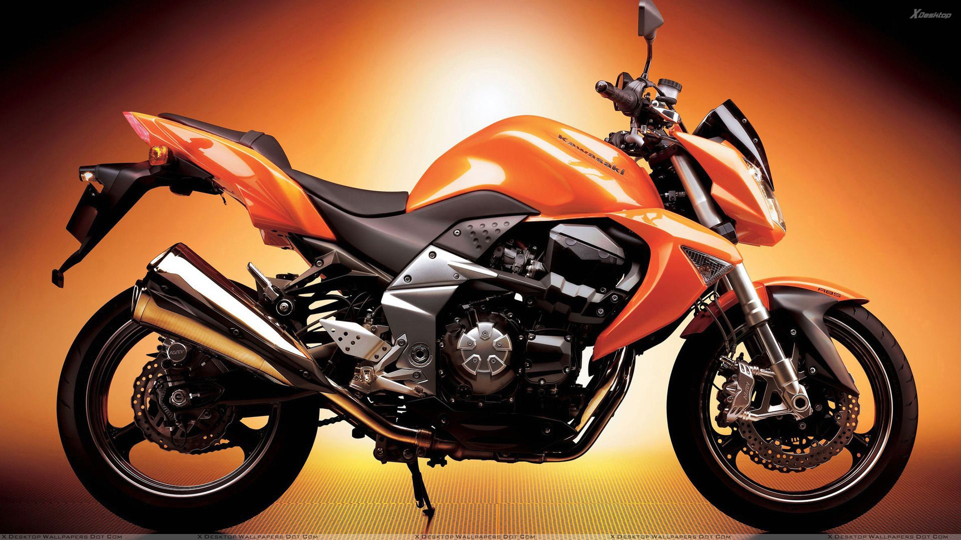 You Are Viewing Wallpaper Titled Kawasaki Z1000 In Orange