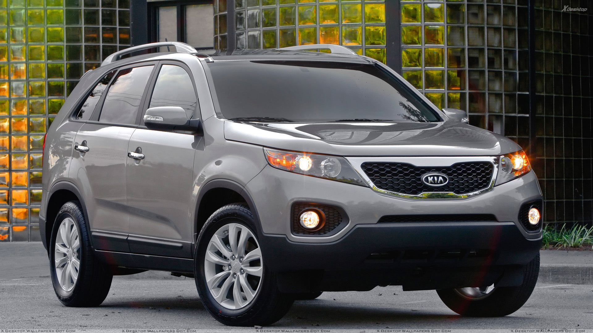 kia sorento 2011 in grey front pose wallpaper. Black Bedroom Furniture Sets. Home Design Ideas