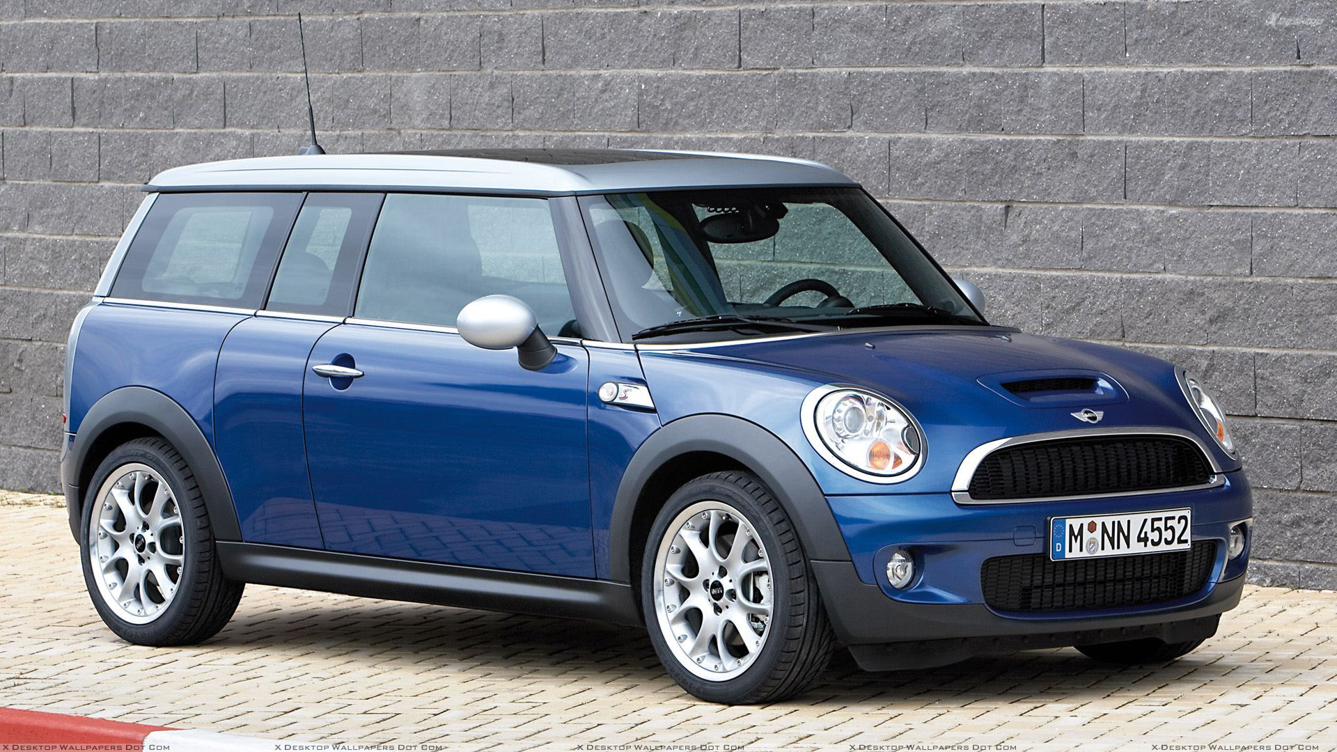 Mini Cooper S Front Side Pose In Blue Wallpaper