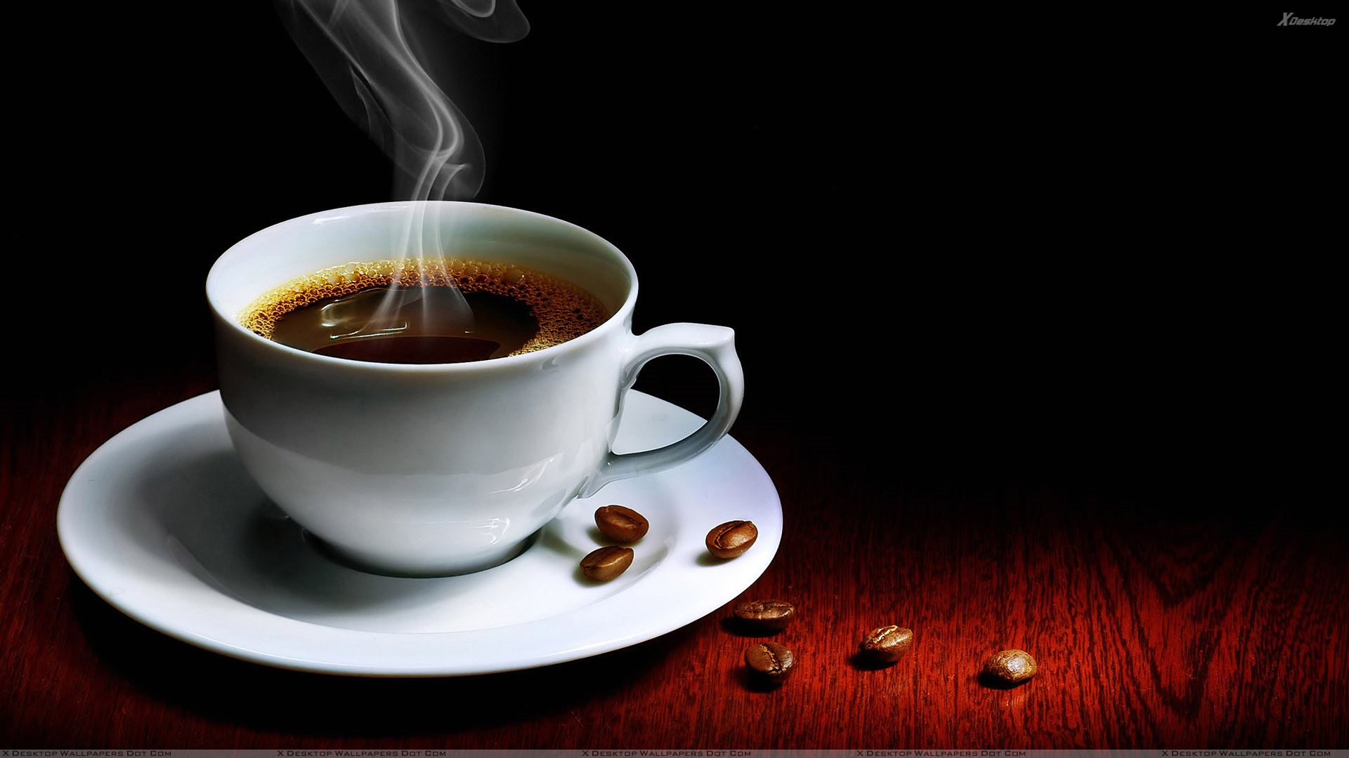 Morning Hot Coffee In White Cup Plate Wallpaper HD Wide Wallpaper for Widescreen