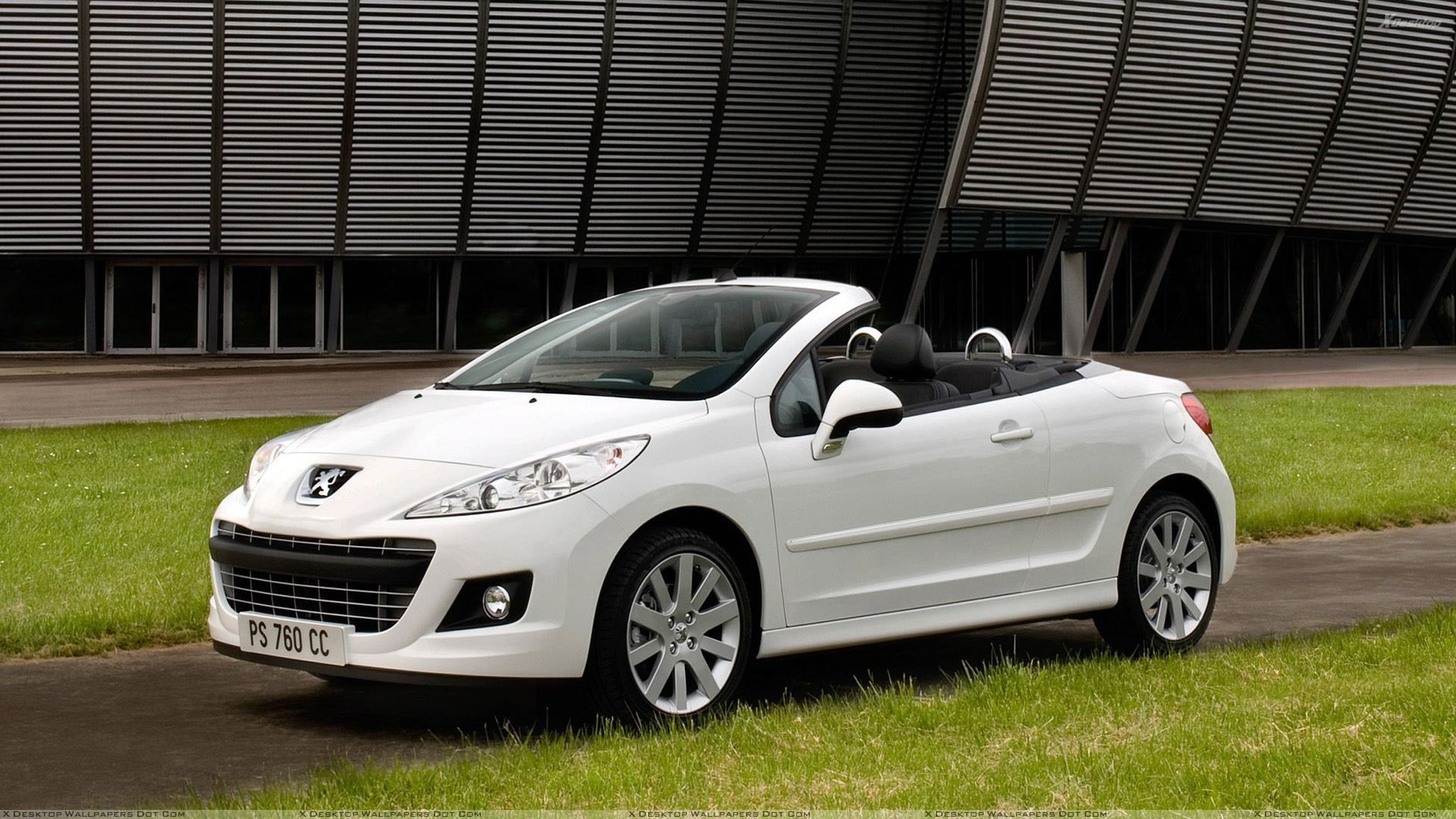 peugeot 207 cc restyled in white side pose wallpaper. Black Bedroom Furniture Sets. Home Design Ideas